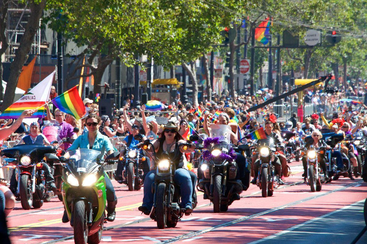 At the pride parade, a festival of rainbows and resistance
