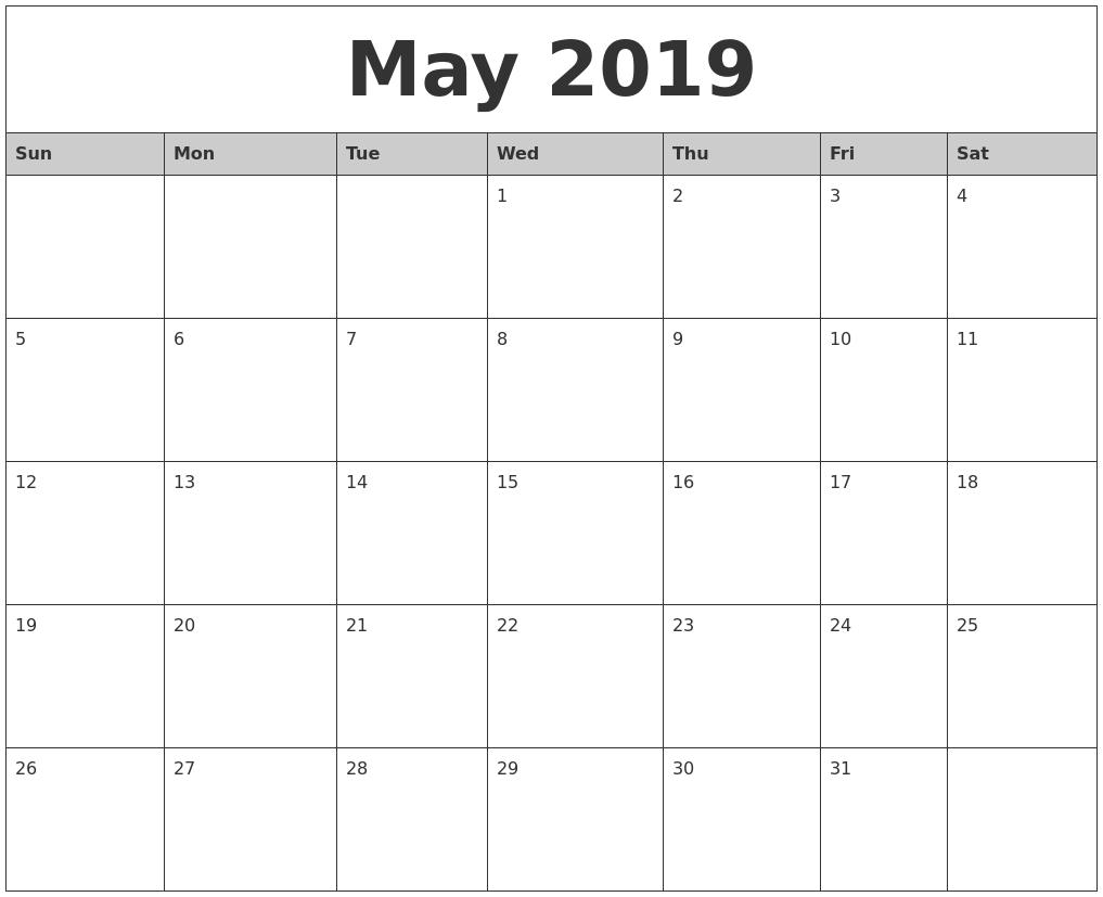 may 2019 calendar wallpapers