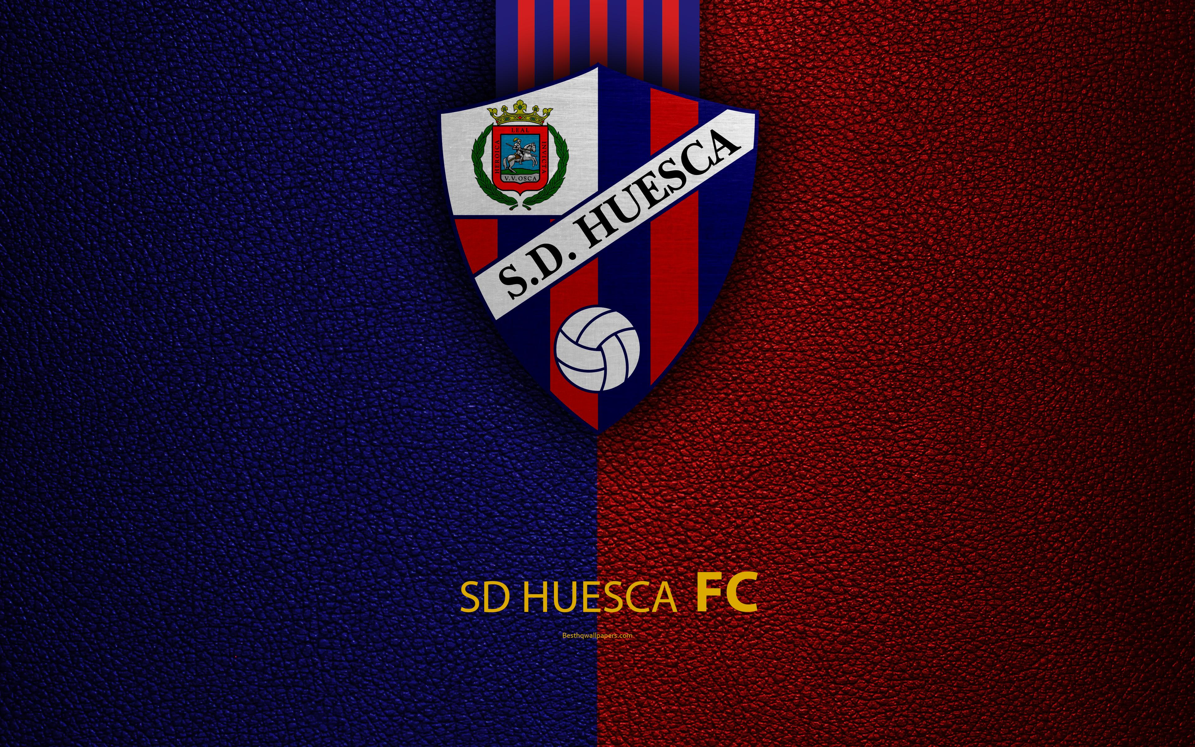 Download wallpapers SD Huesca FC, 4K, Spanish Football Club, leather ...