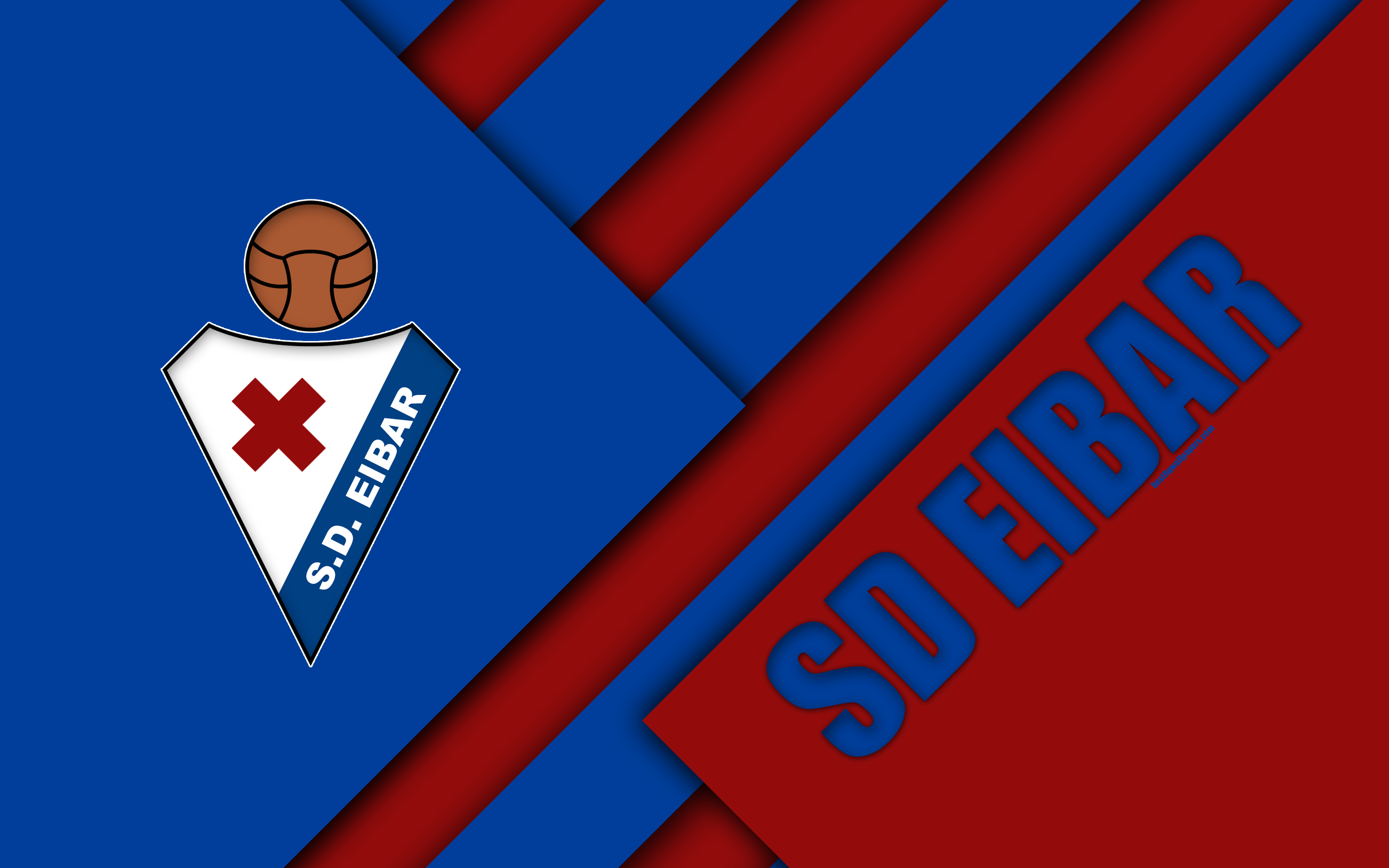 Download wallpapers SD Eibar, 4K, Spanish football club, logo