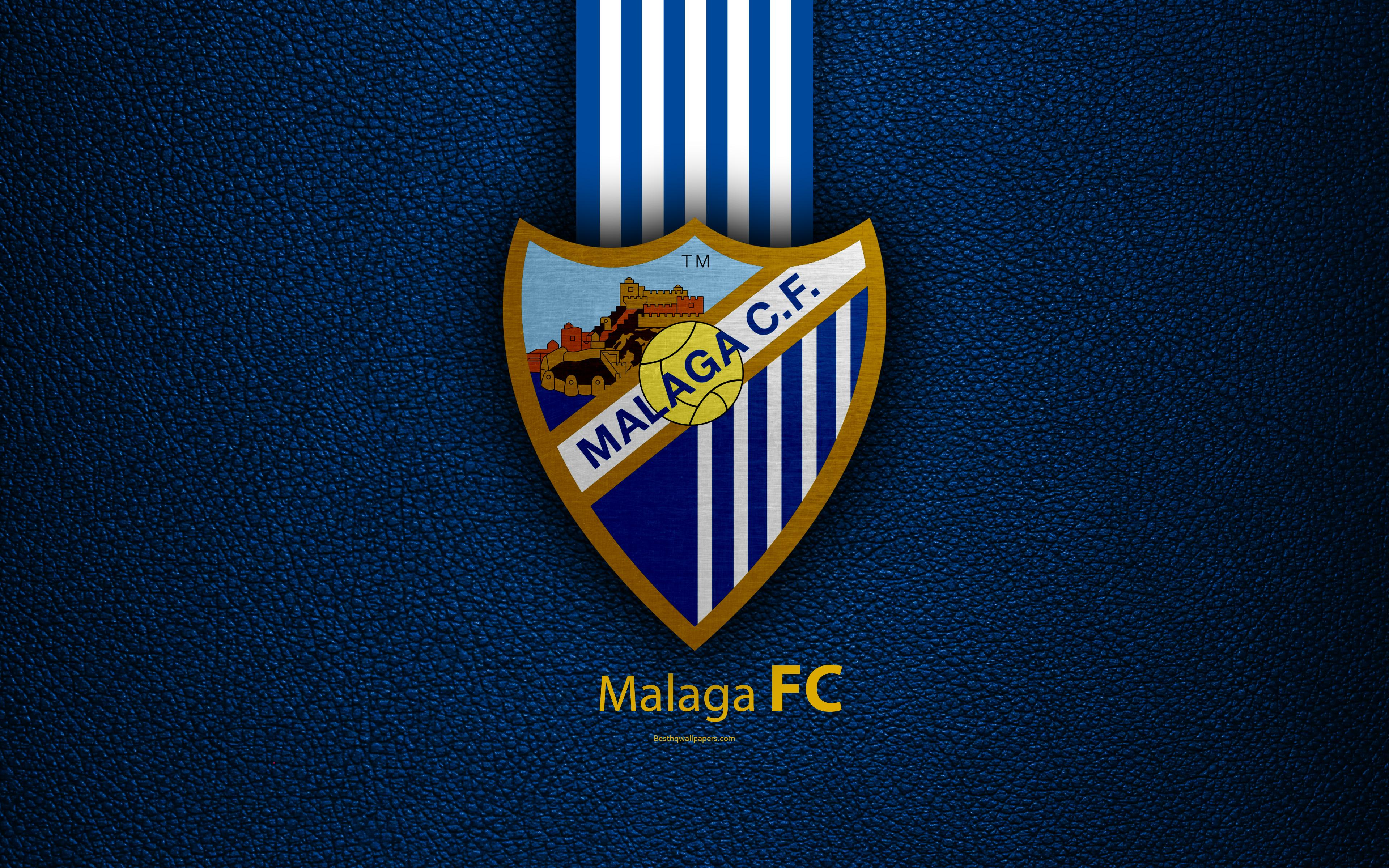 Download wallpapers Malaga FC, 4K, Spanish football club, La Liga