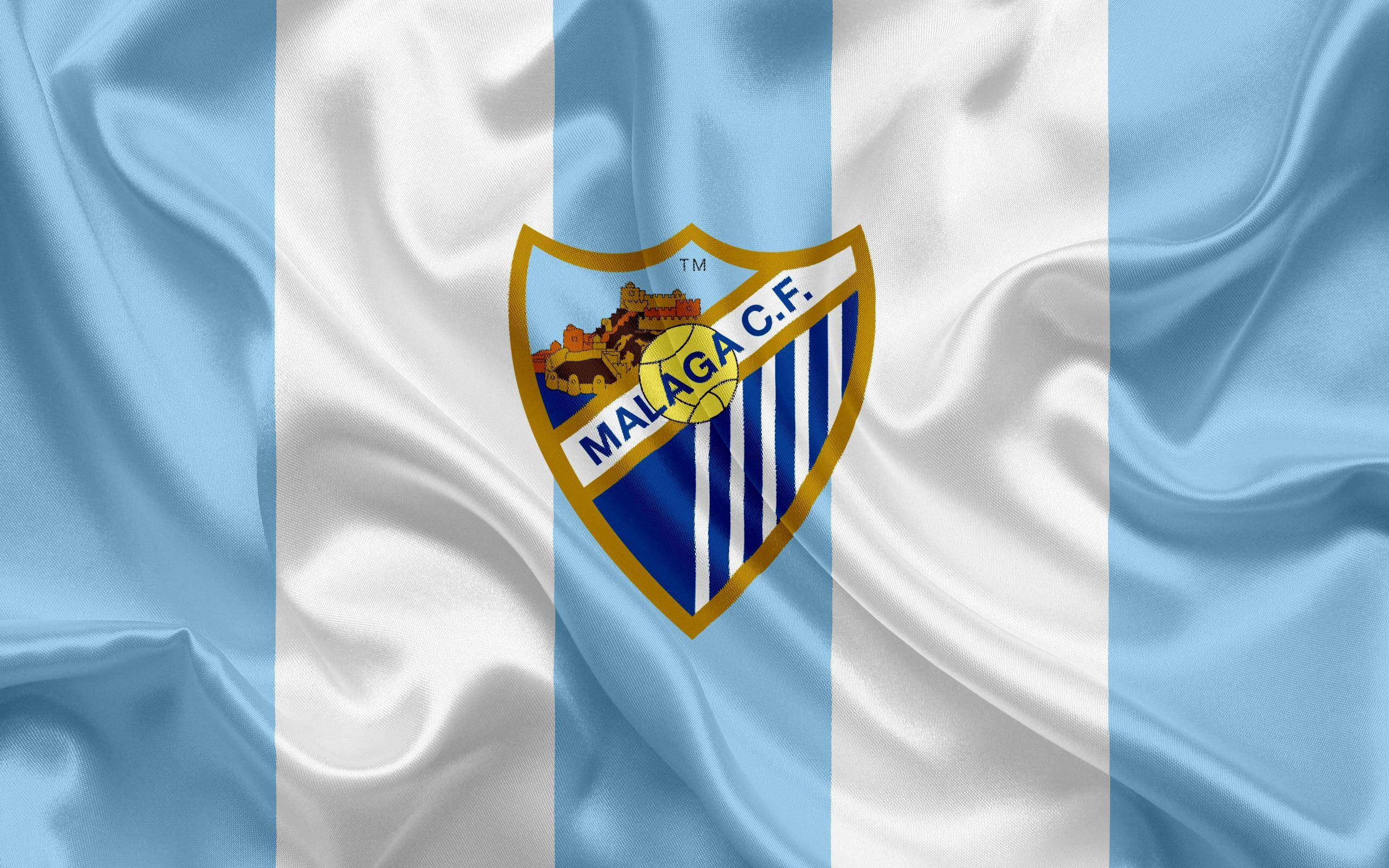 Download wallpapers Malaga FC, football club, Malaga emblem, logo