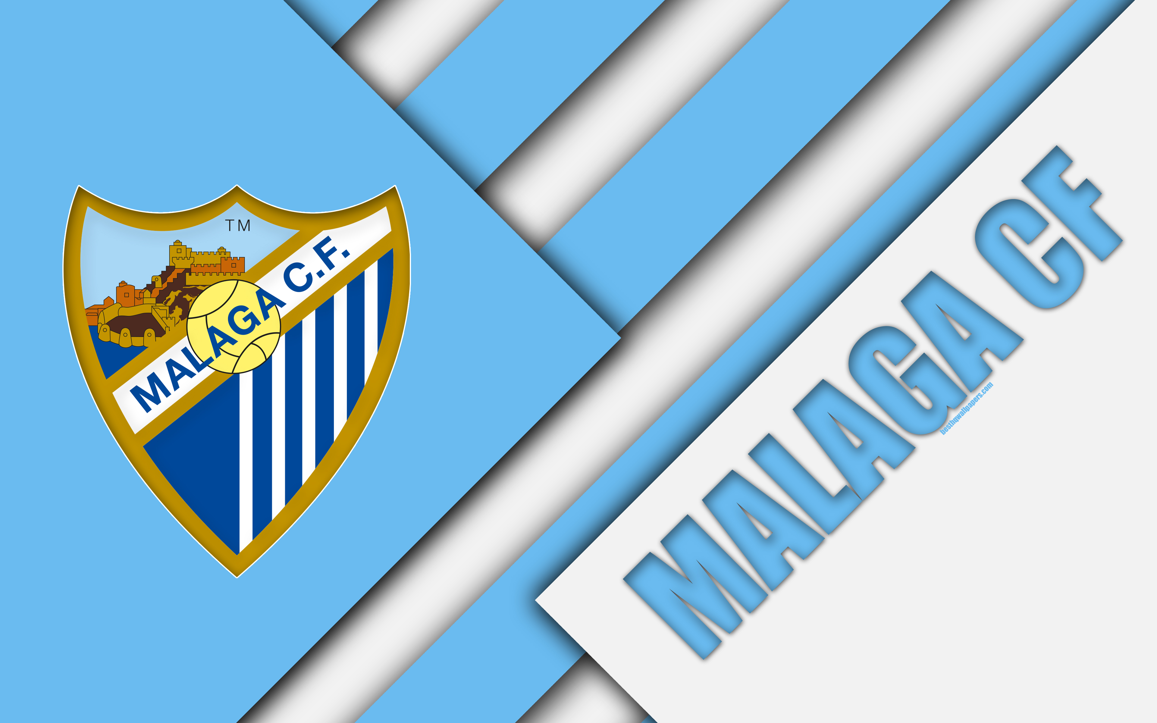 Download wallpapers Malaga CF, 4K, Spanish football club, Malaga