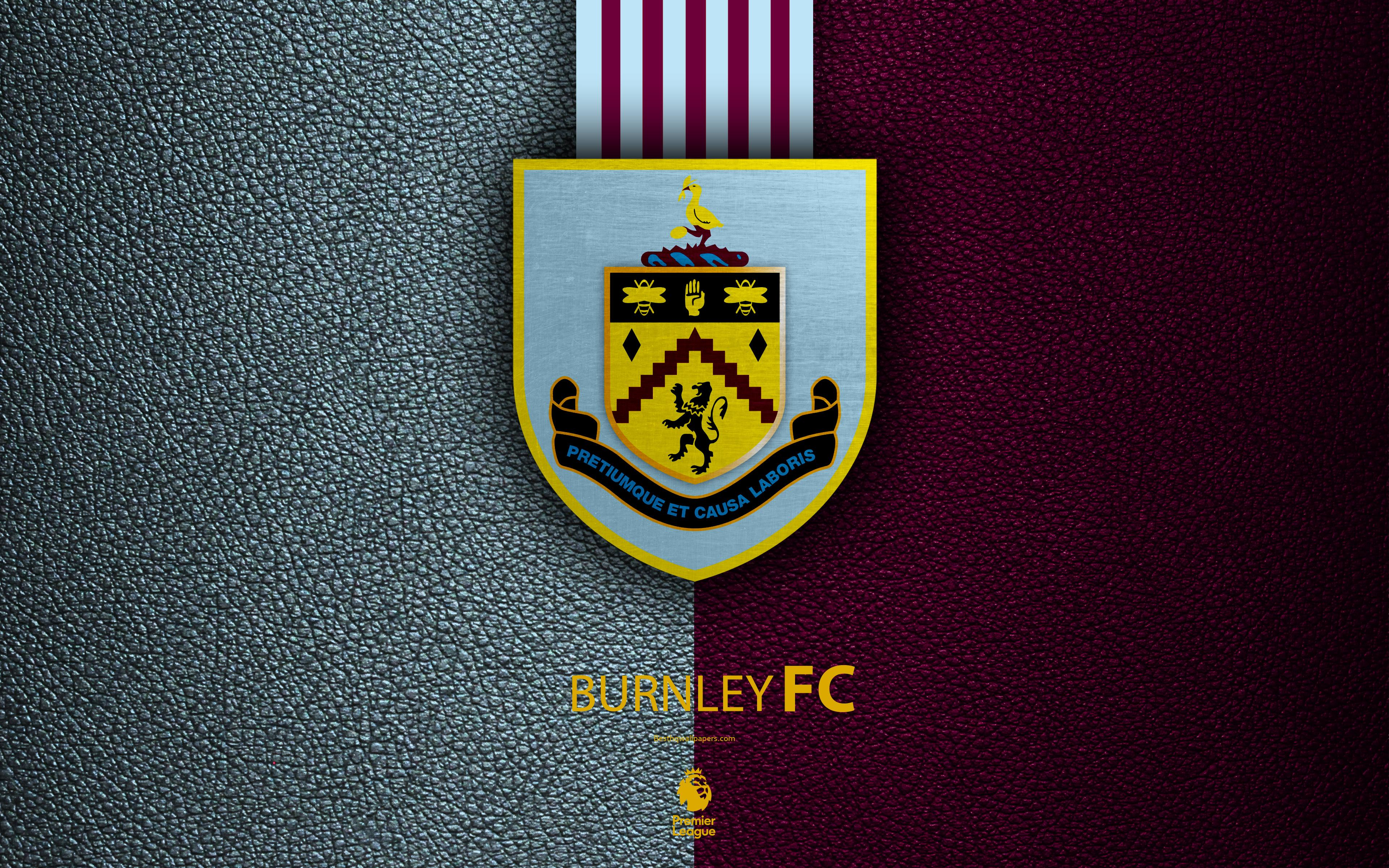 Download wallpapers Burnley FC, 4k, English football club, leather ...