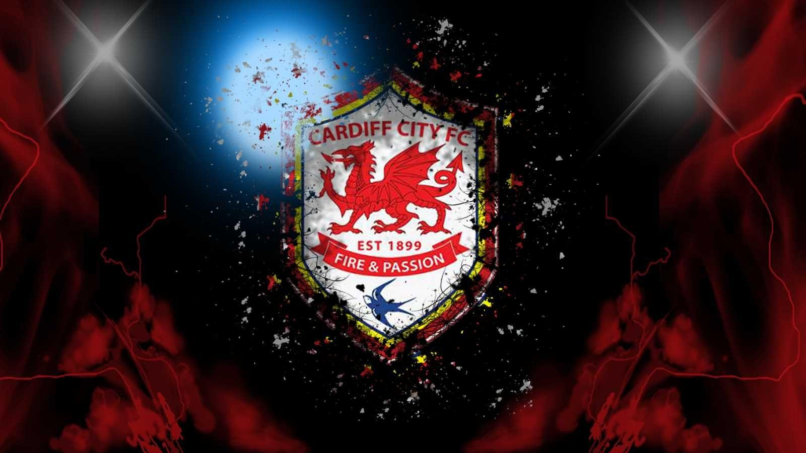 Cardiff City FC Fire and Passion Logo Wallpaper HD | Wallpapers ...