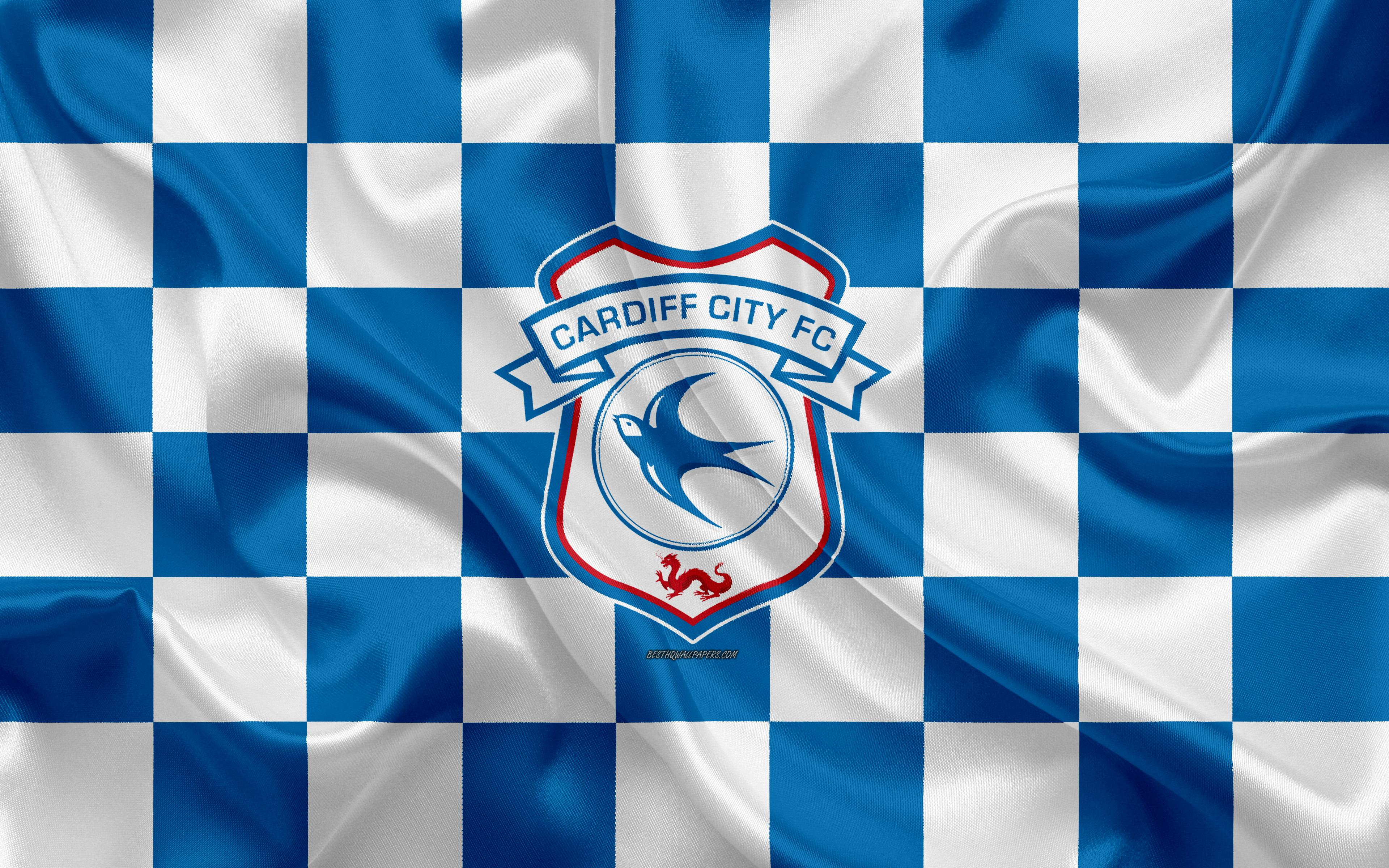 Download wallpapers Cardiff City FC, 4k, logo, creative art, blue ...