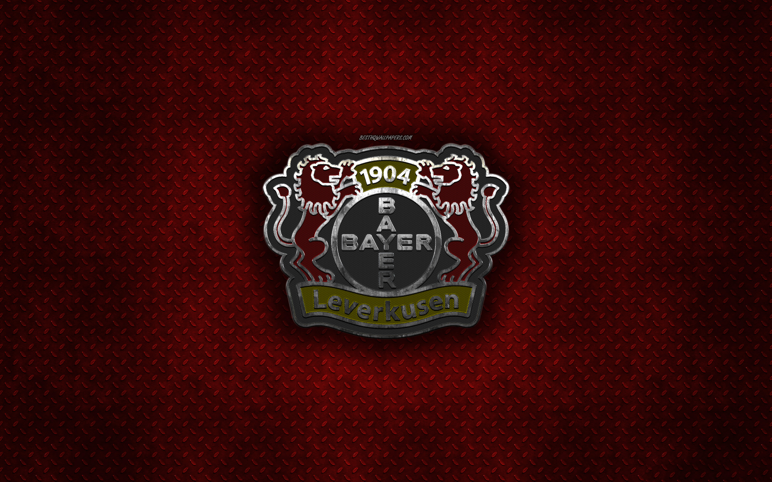 Download wallpapers Bayer 04 Leverkusen, German football club, red ...