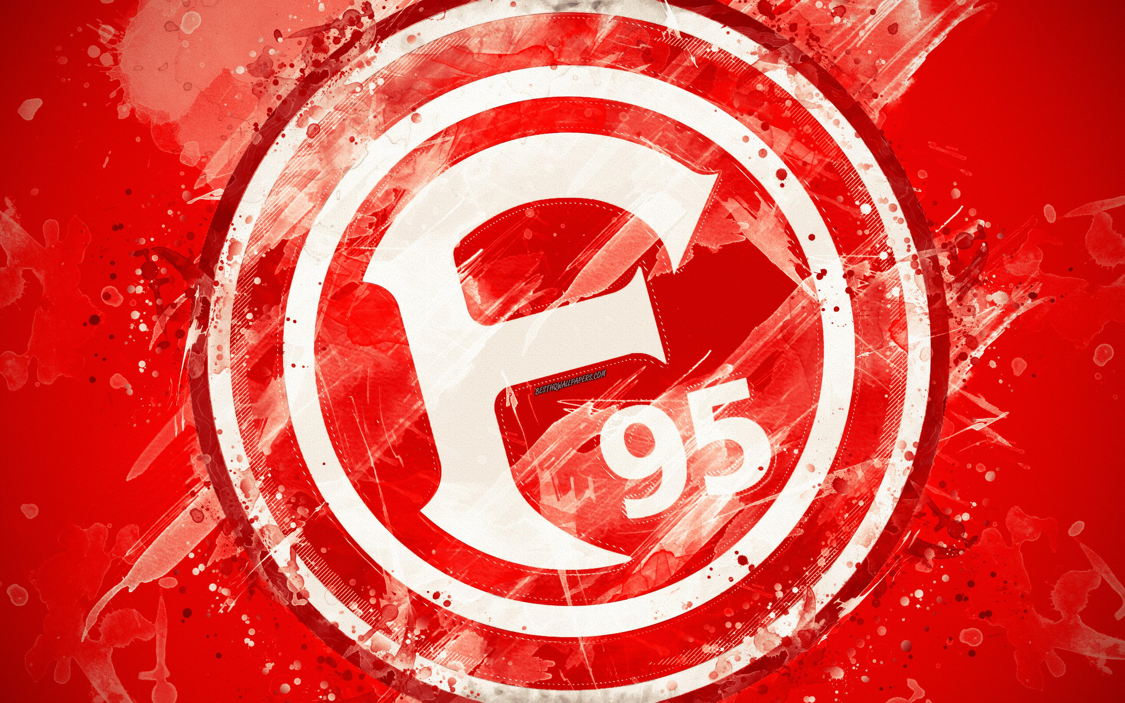 Download wallpapers Fortuna Dusseldorf FC, 4k, paint art, logo ...
