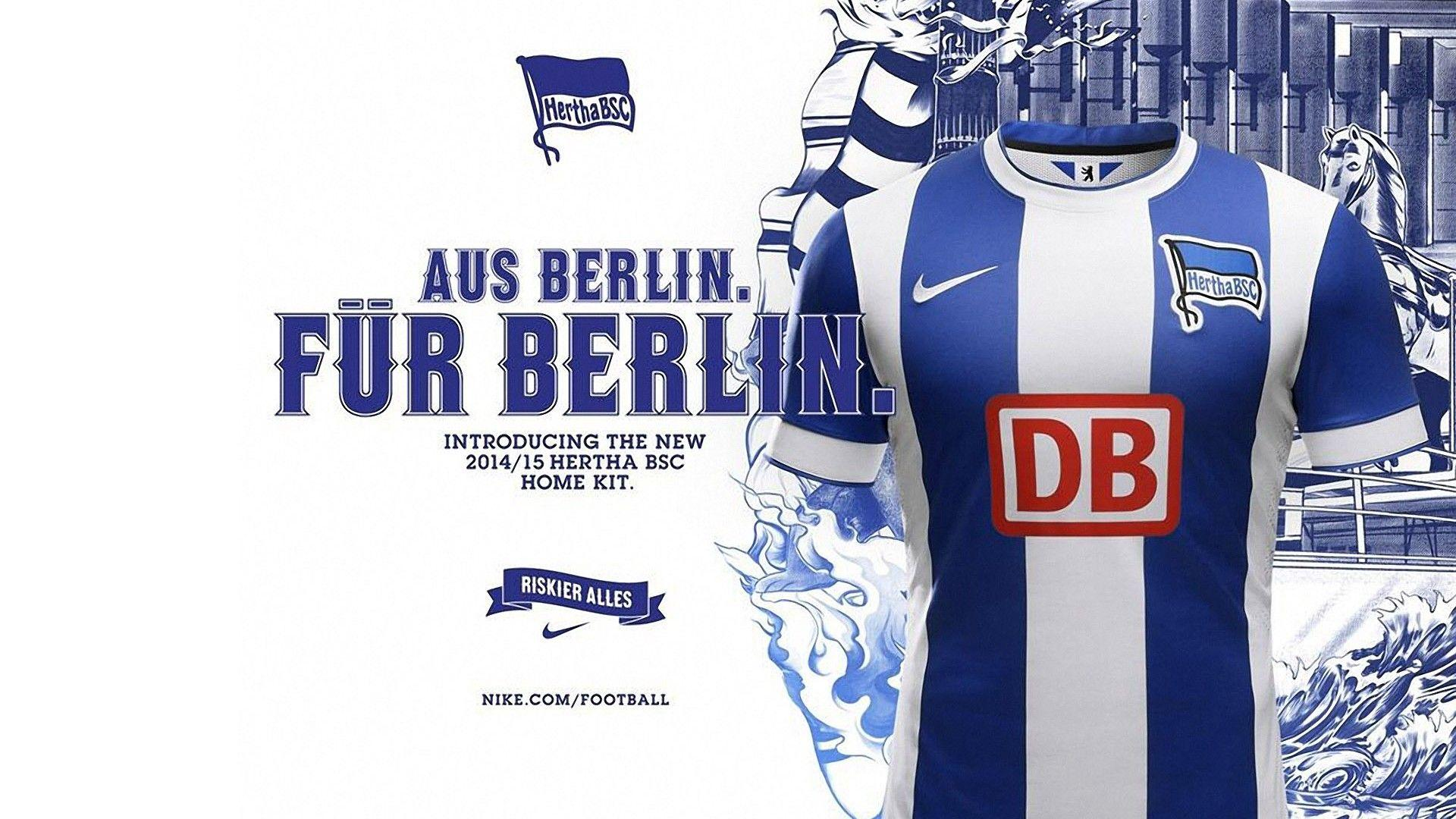 Hertha BSC Berlin 2014 15 Nike Home Jersey Desktop Wallpapers