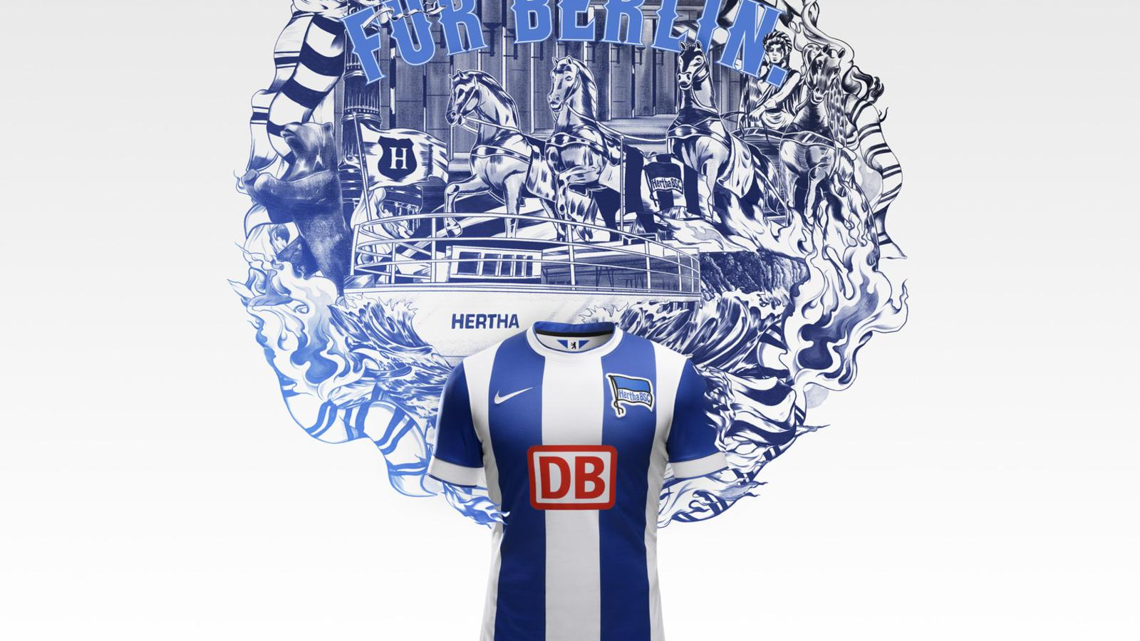 Nike and Hertha BSC Berlin Unveil New Home and Away Kits for 2014