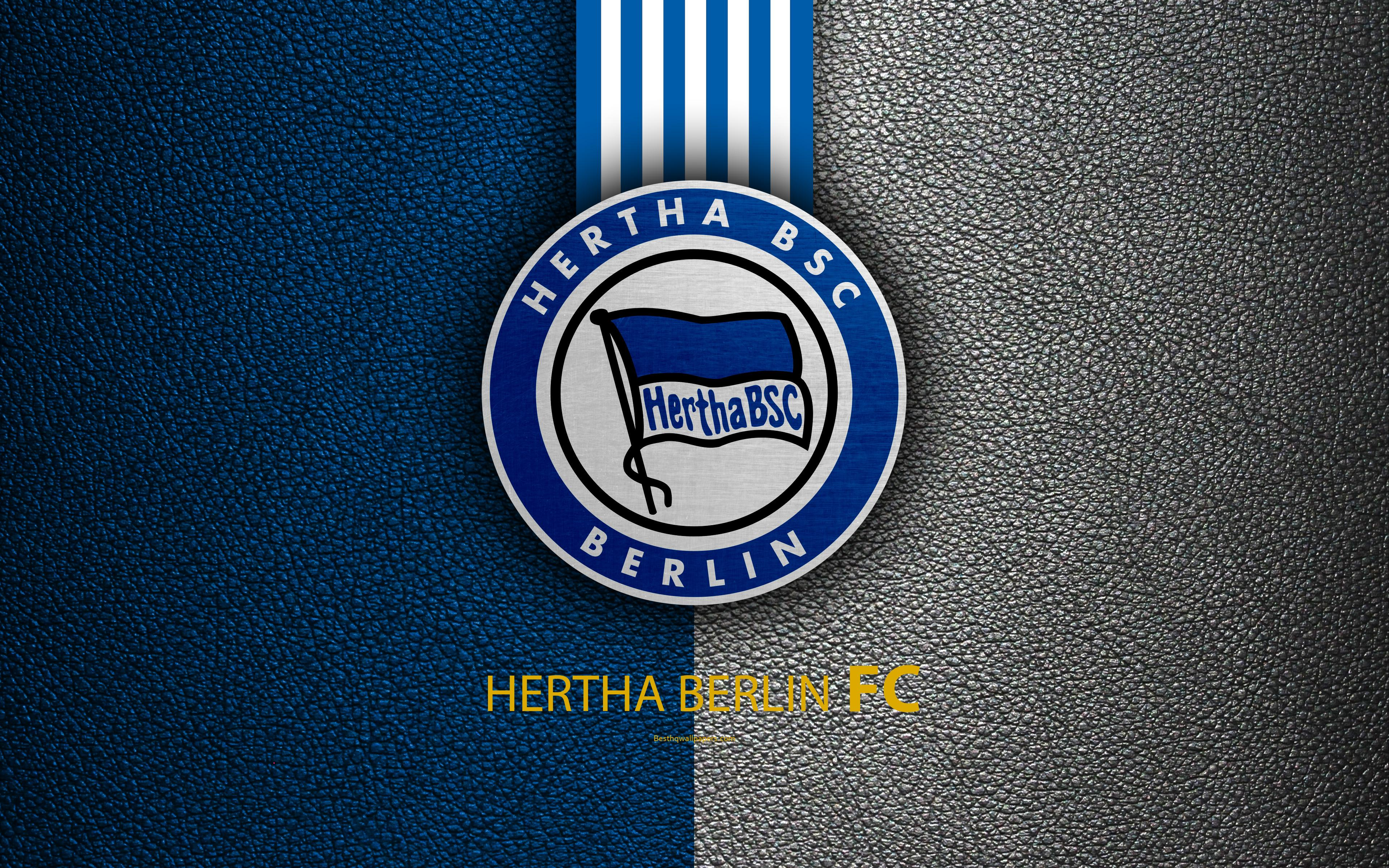 Download wallpapers Hertha Berlin FC, 4K, German football club