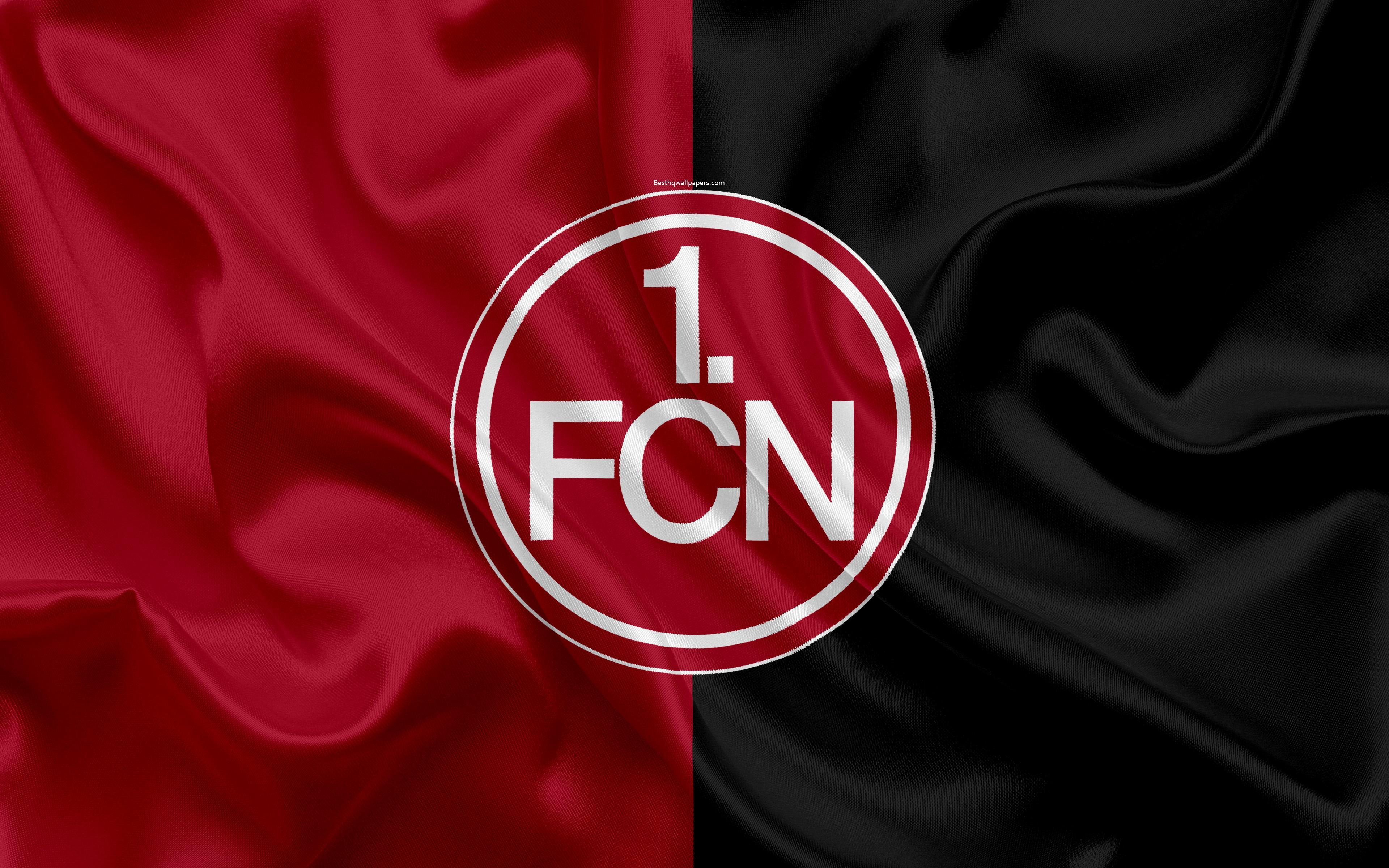 Download wallpapers FC Nurnberg, 4k, burgundy gray silk flag, German ...