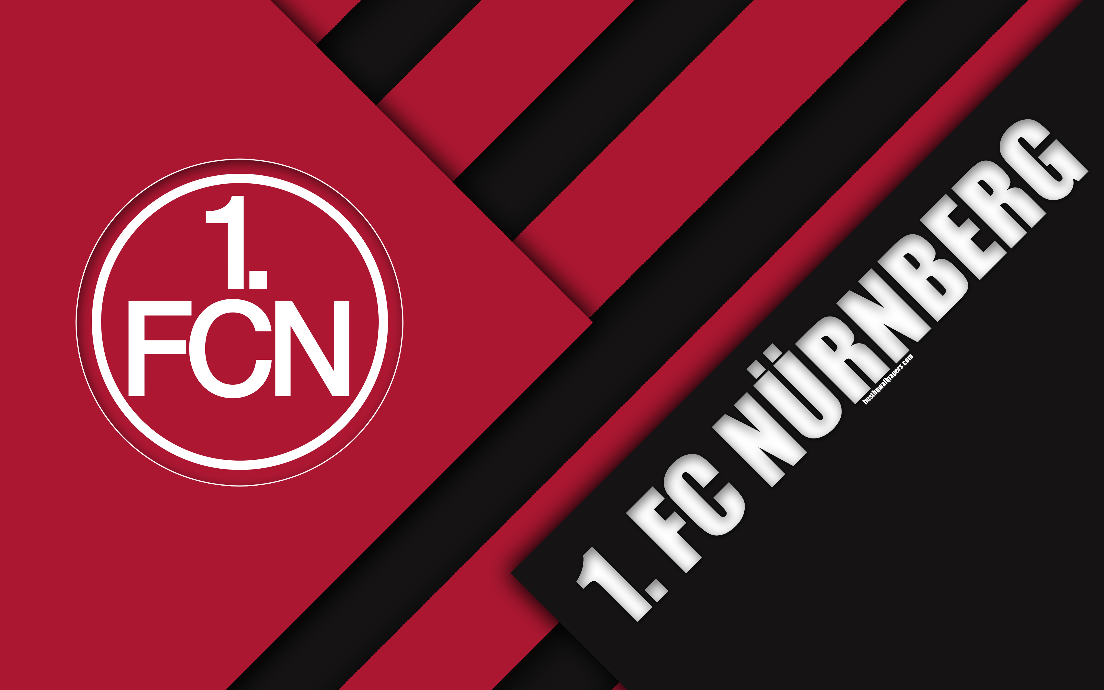 Download wallpapers FC Nürnberg, logo, 4k, German football club ...