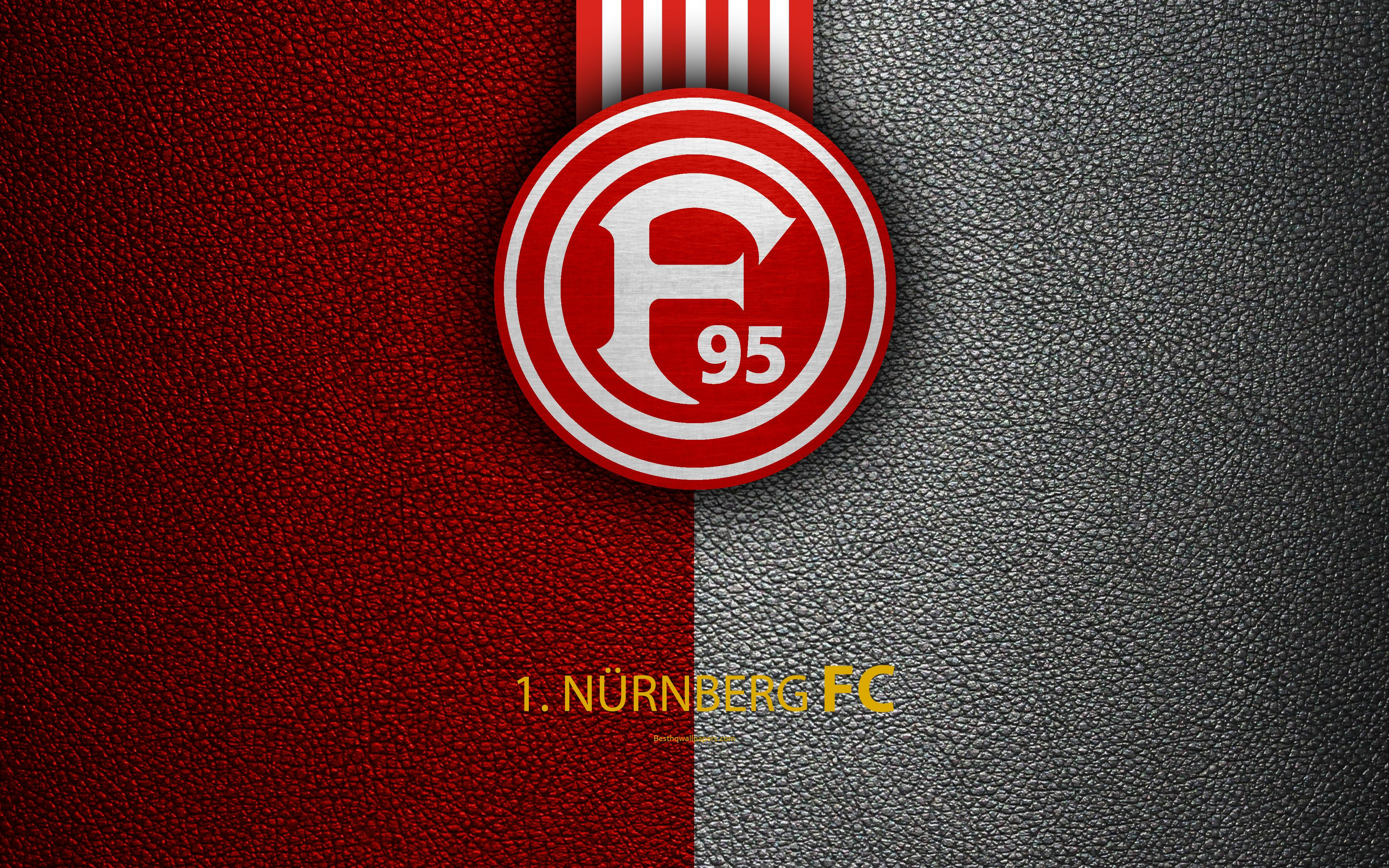 Download wallpapers FC Nürnberg, 4K, leather texture, German ...