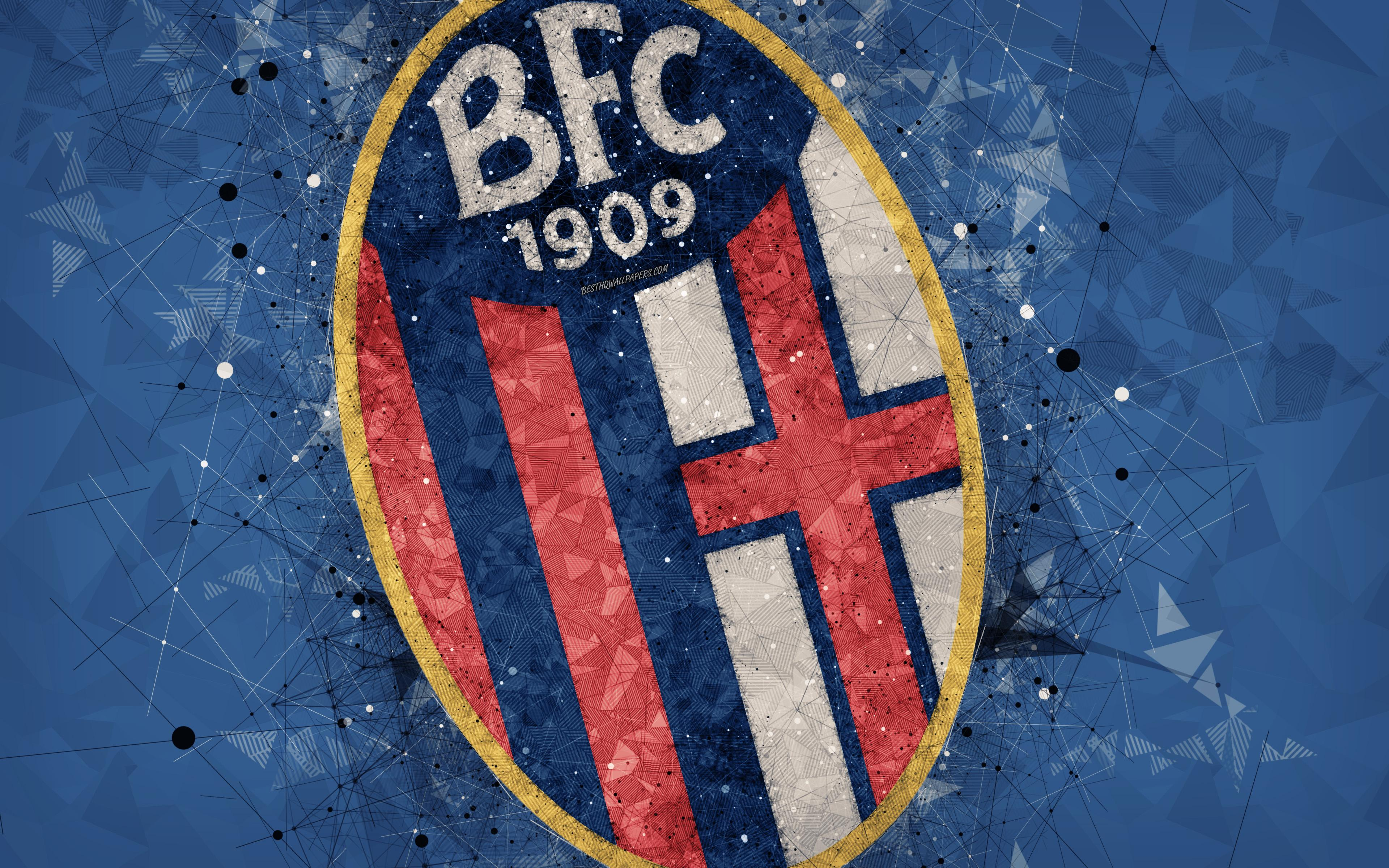 Download wallpapers Bologna FC, 4k, Italian football club, creative ...