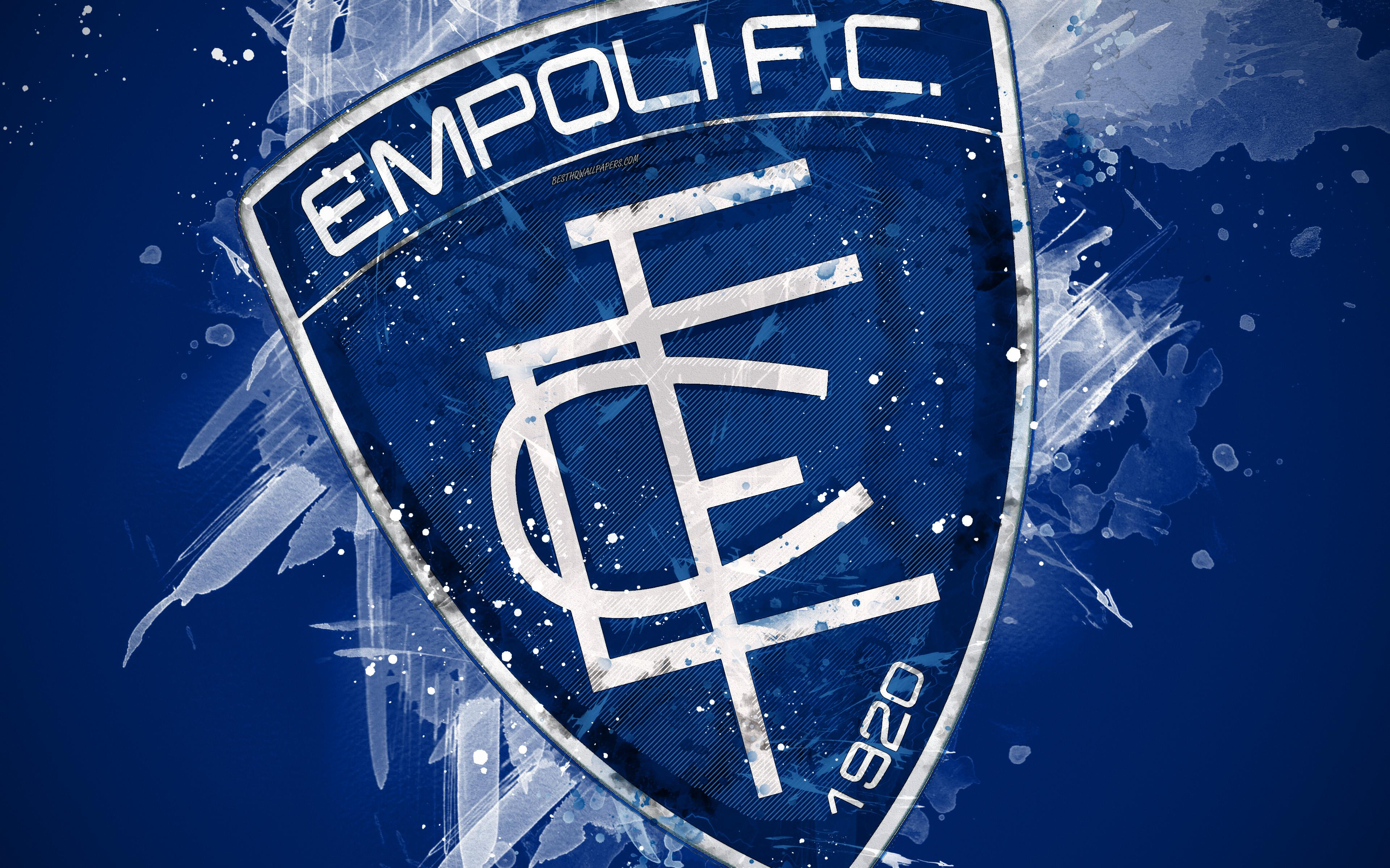 Download wallpapers Empoli FC, 4k, paint art, creative, Italian