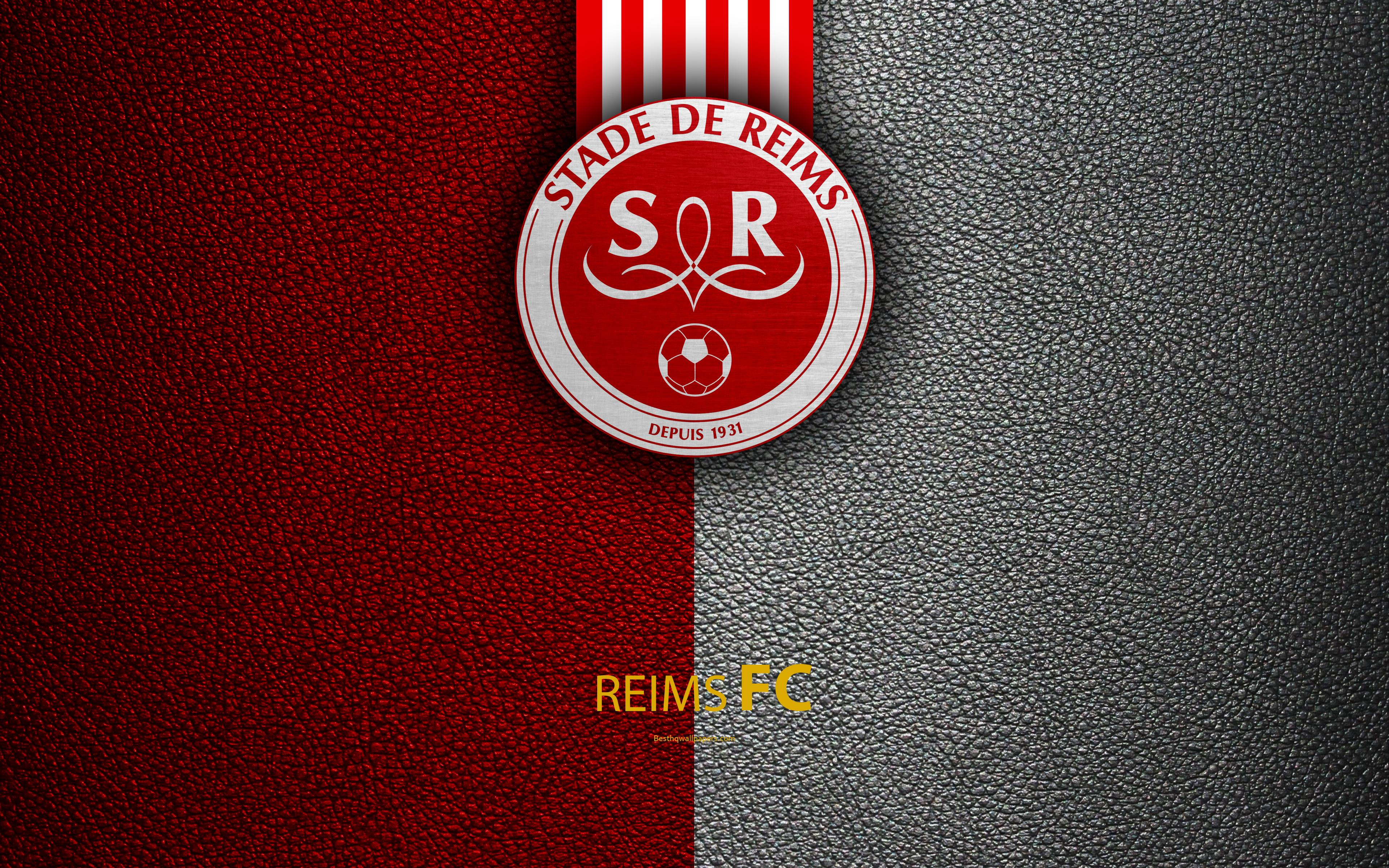 Download wallpapers Reims FC, Stade de Reims FC, French football
