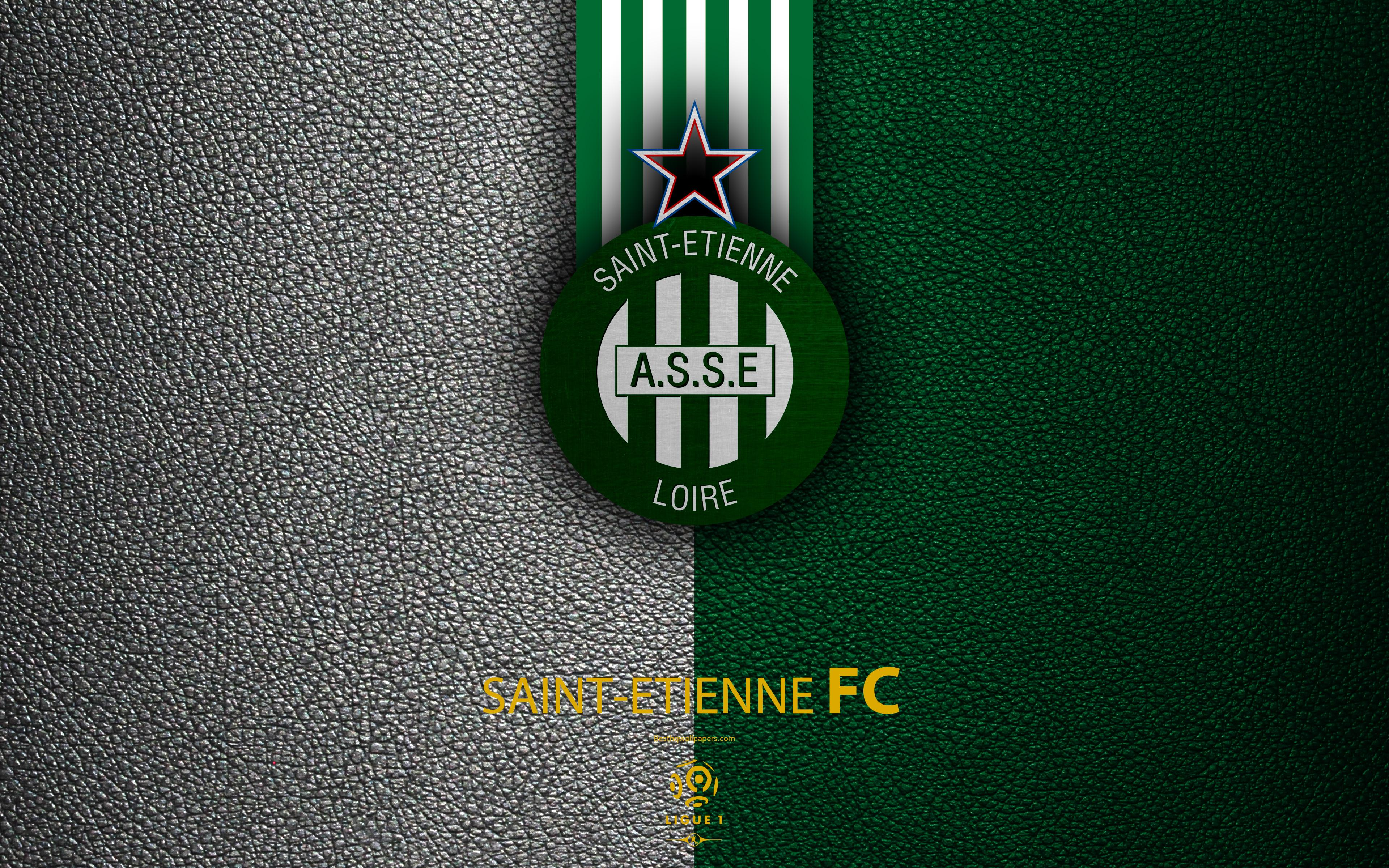 Download wallpapers AS Saint-Etienne, FC, 4K, French football club ...