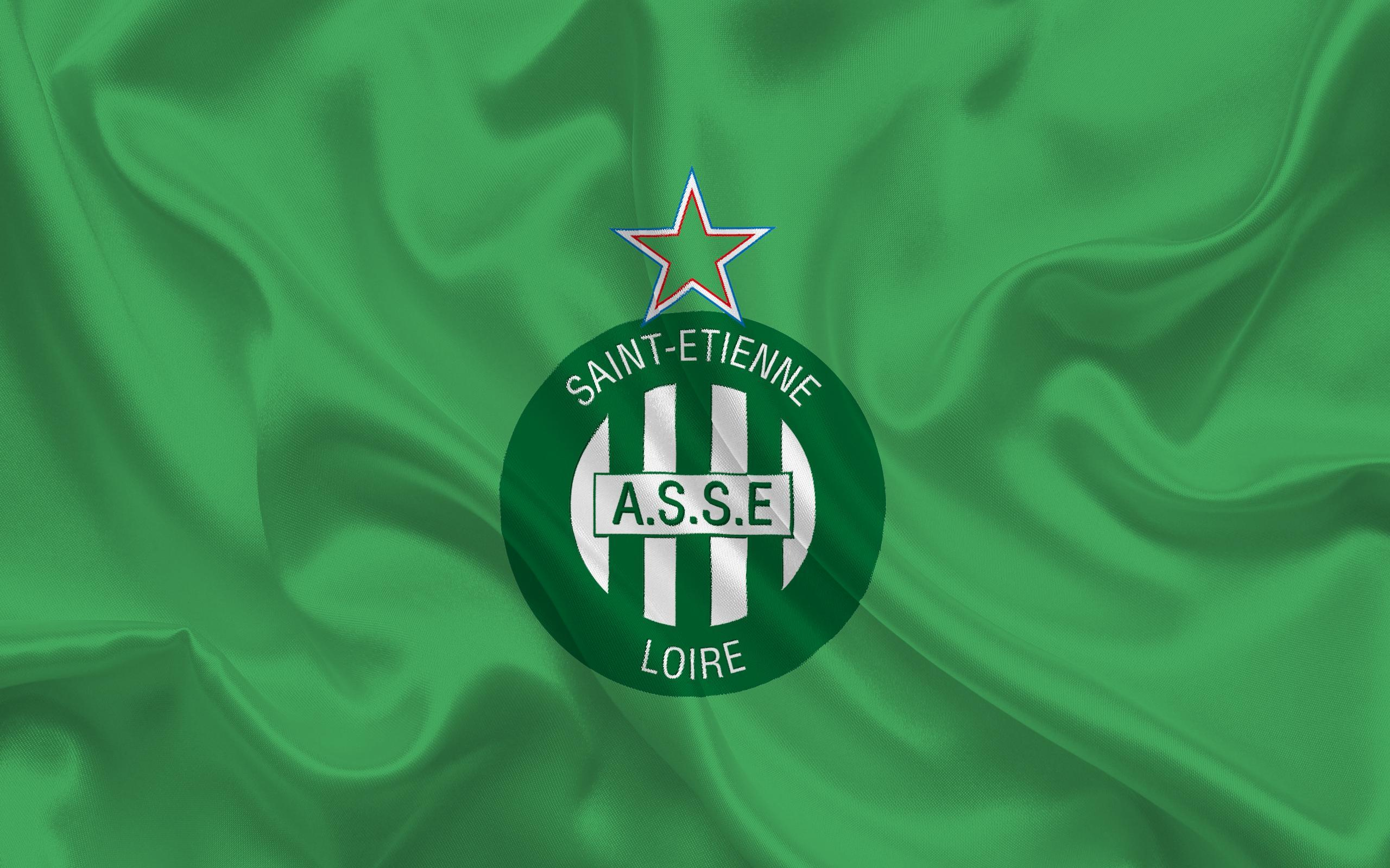 Download wallpapers AS Saint-Etienne, Football club, emblem, logo ...