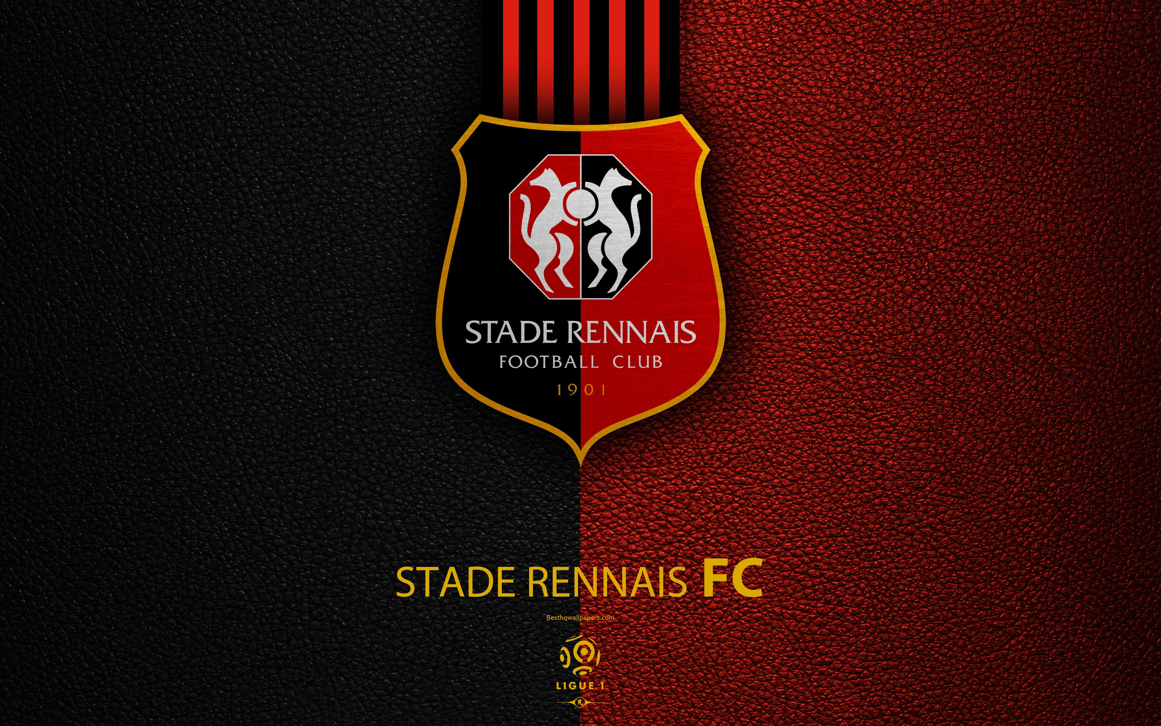 Download wallpapers Stade Rennais FC, 4K, French football club