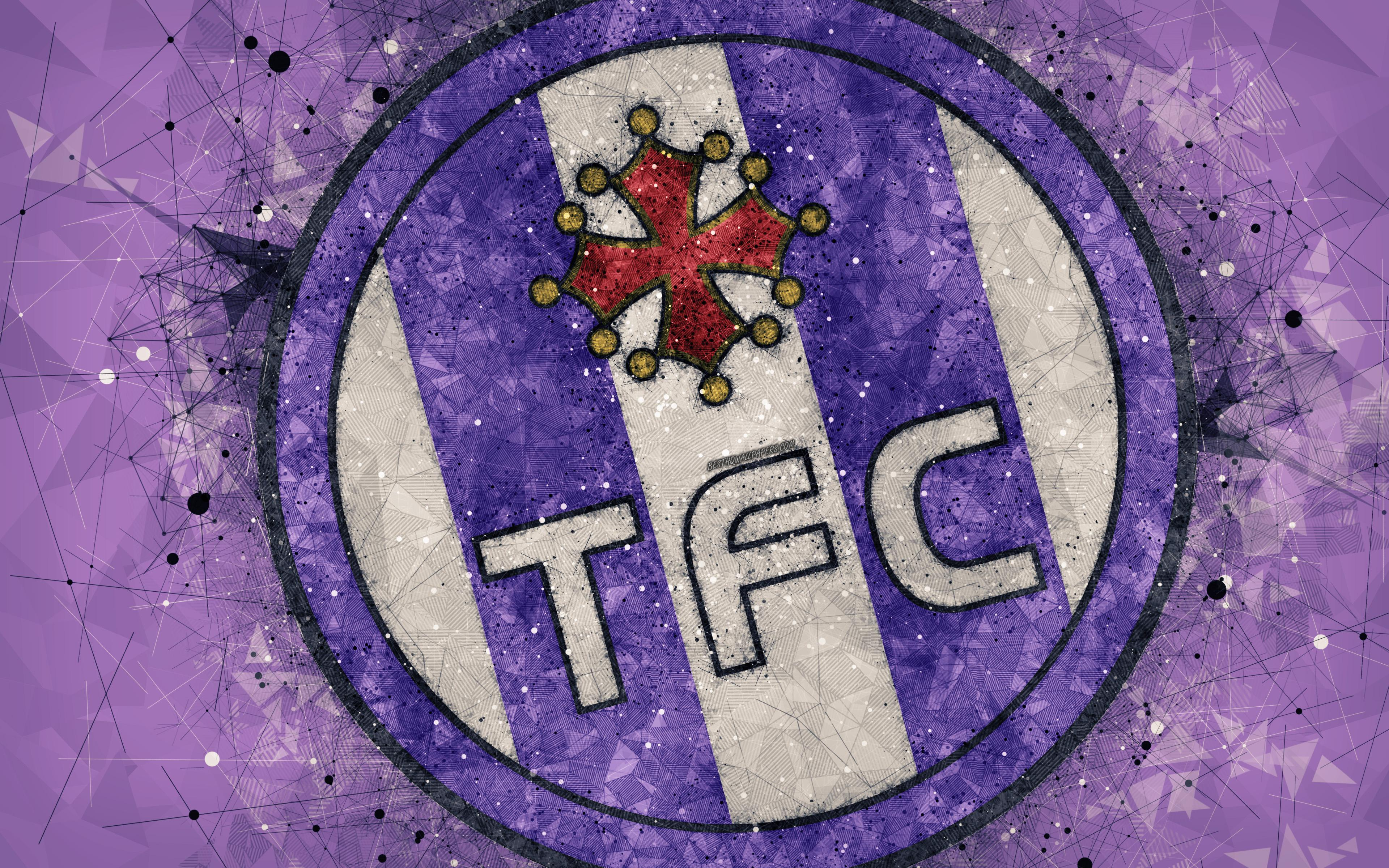 Download wallpapers Toulouse FC, 4k, geometric art, French football ...