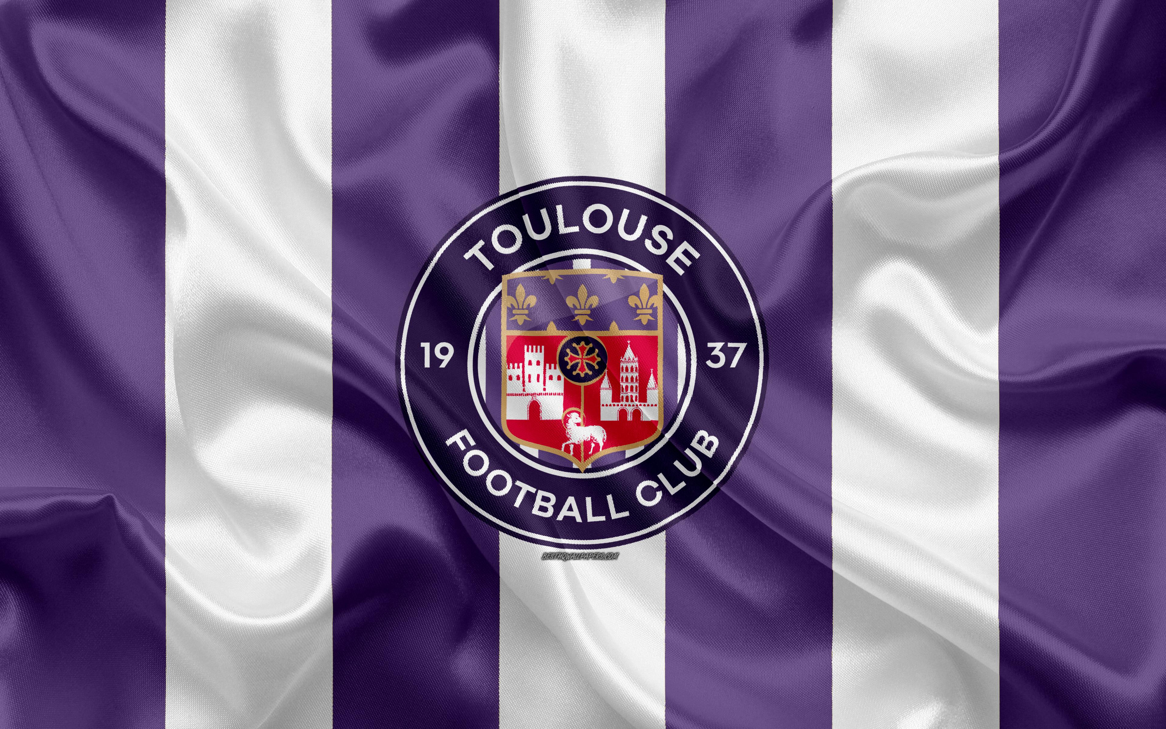 Download wallpapers Toulouse FC, new logo, 4k, french football club ...