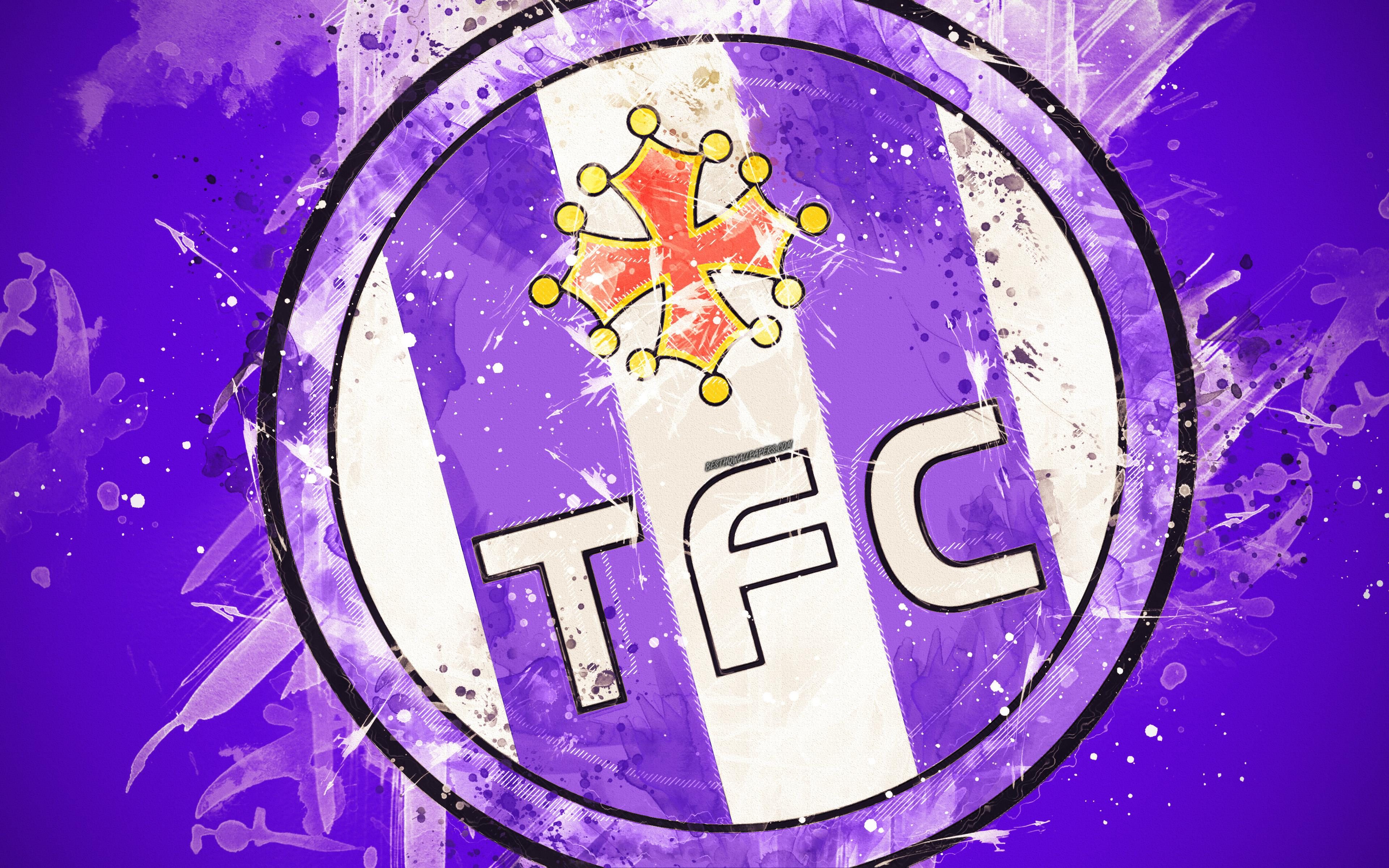 Download wallpapers Toulouse FC, 4k, paint art, creative, French ...