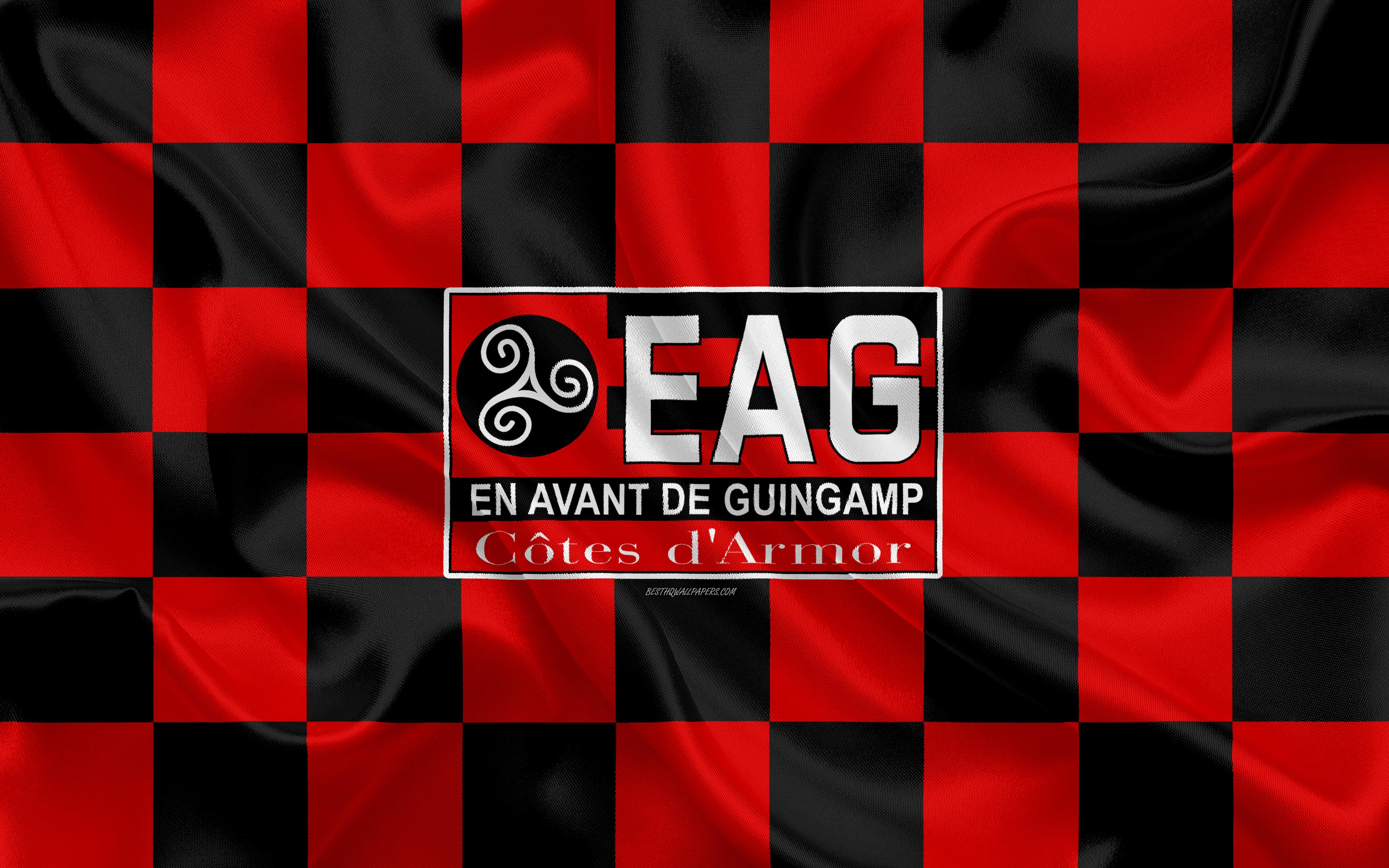 Download wallpapers En Avant de Guingamp, 4k, logo, creative art