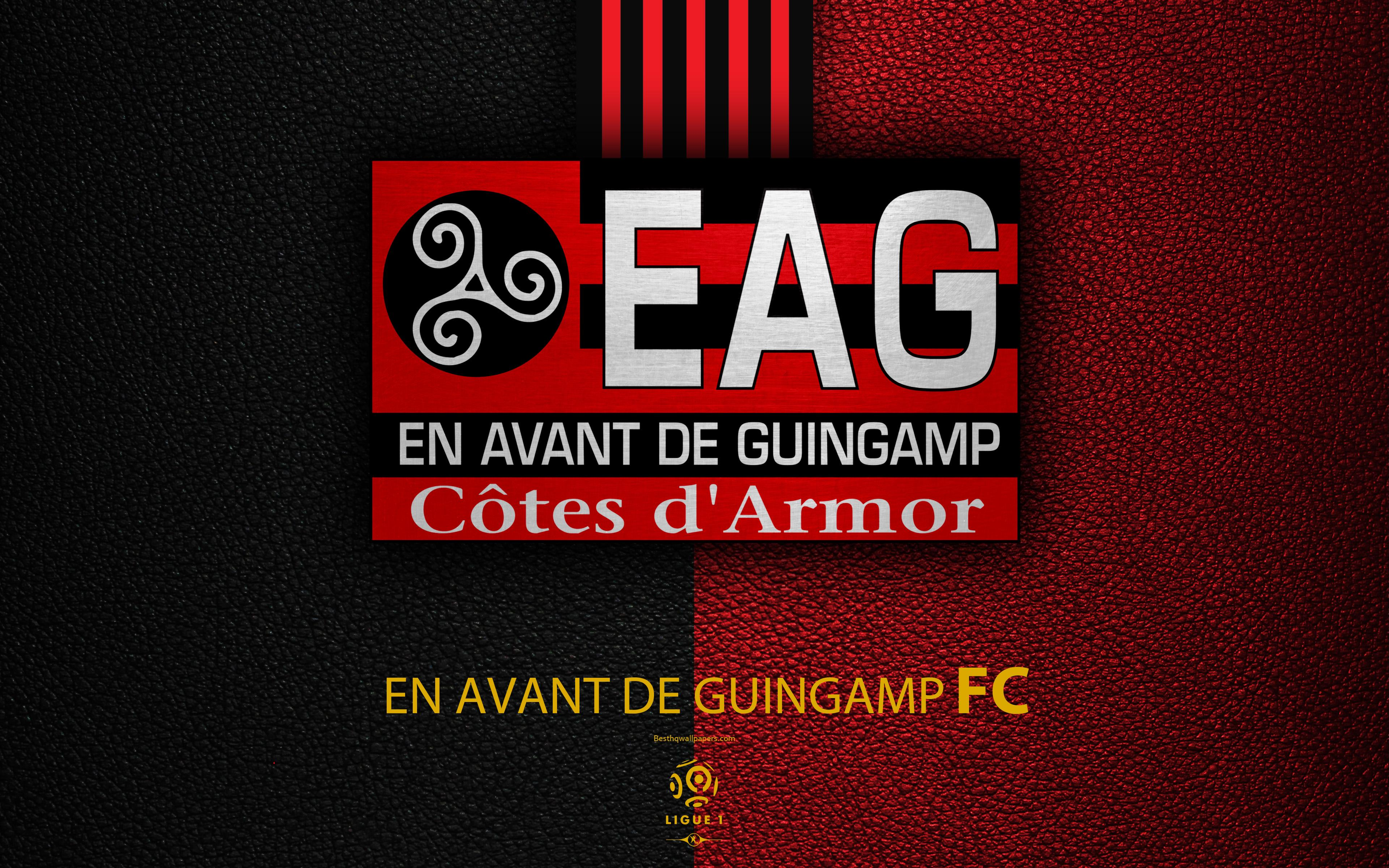 Download wallpapers En Avant de Guingamp FC, 4K, French football