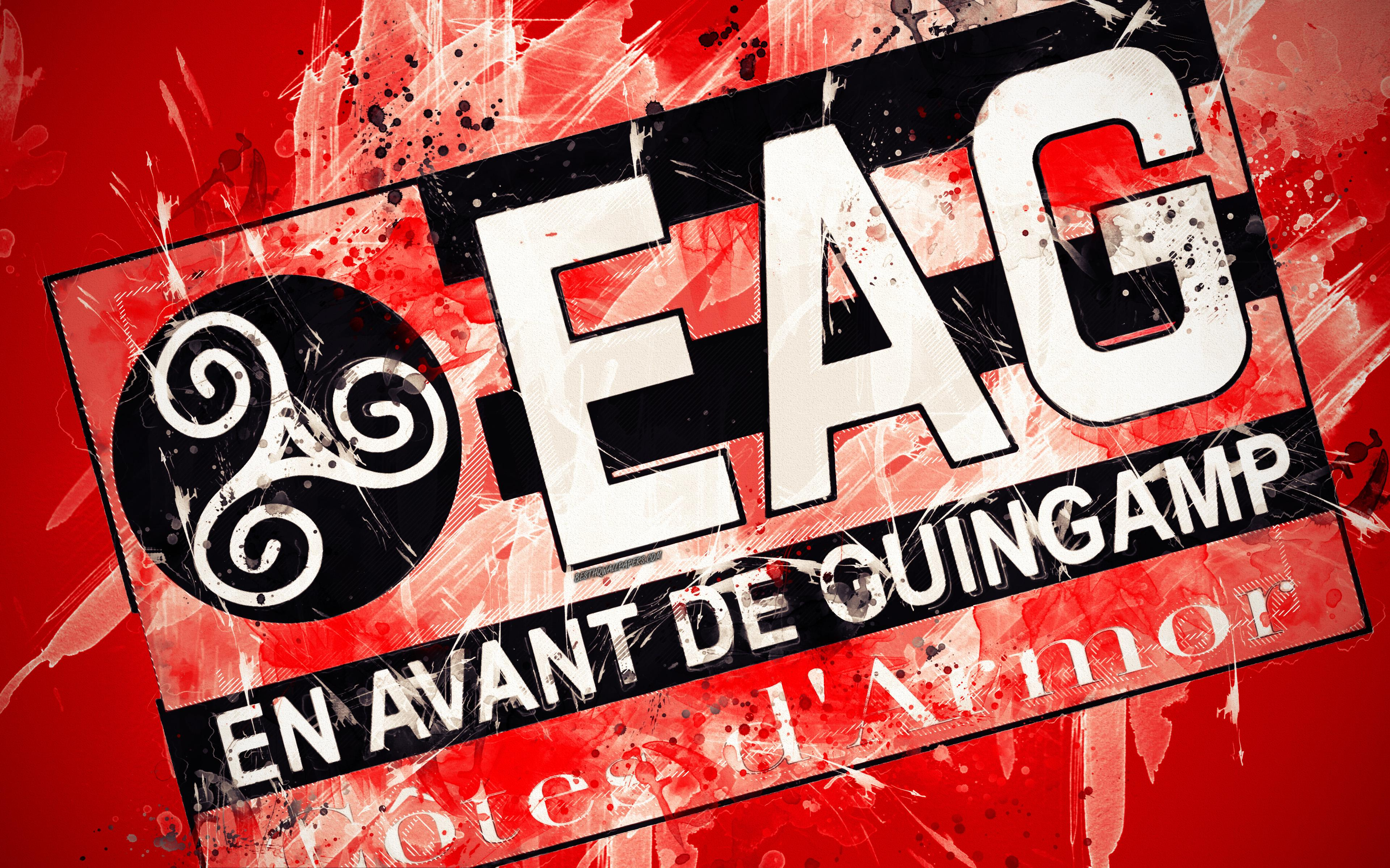 Download wallpapers En Avant de Guingamp, 4k, paint art, creative