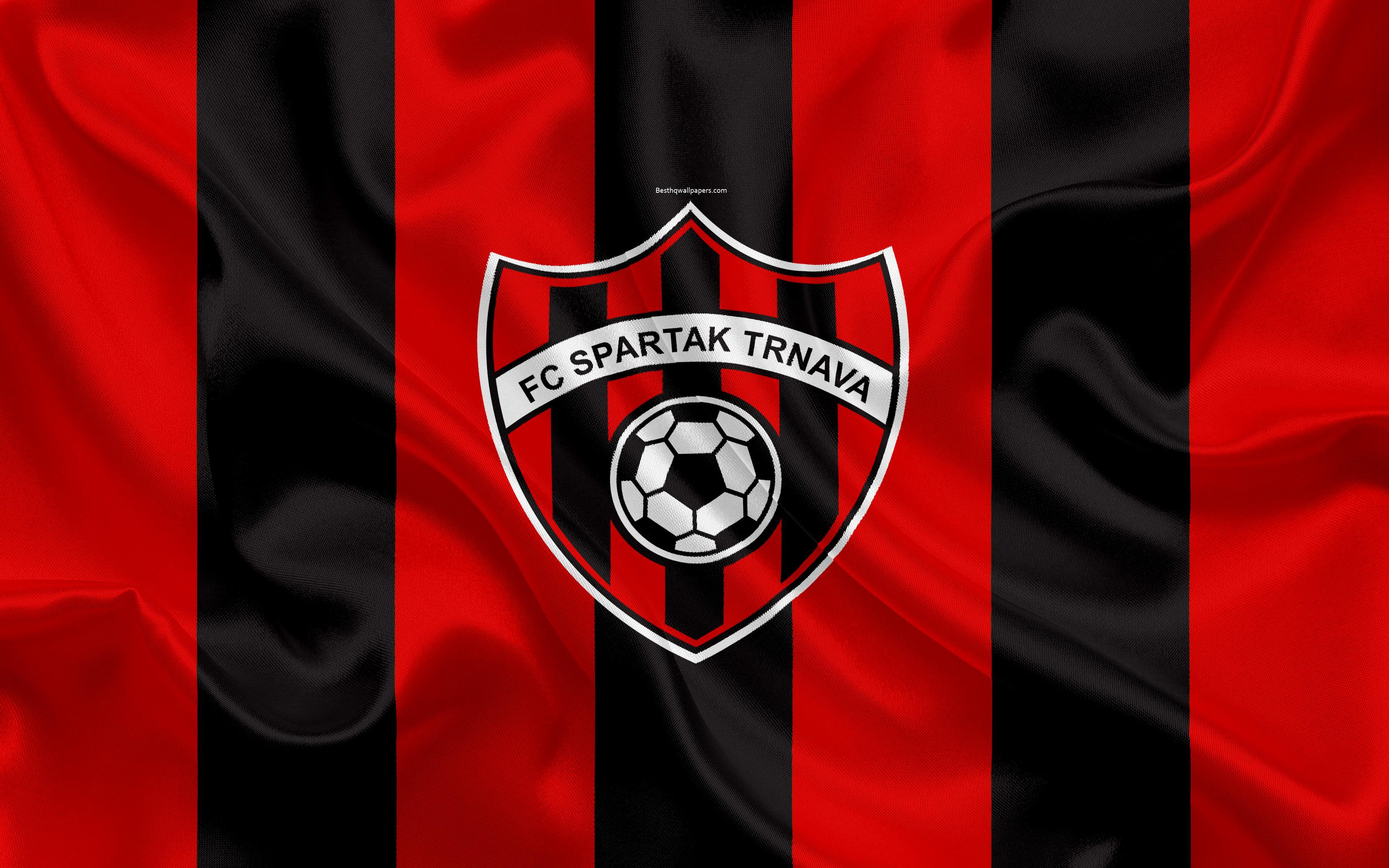 Download wallpapers FC Spartak Trnava, 4k, silk texture, Slovak