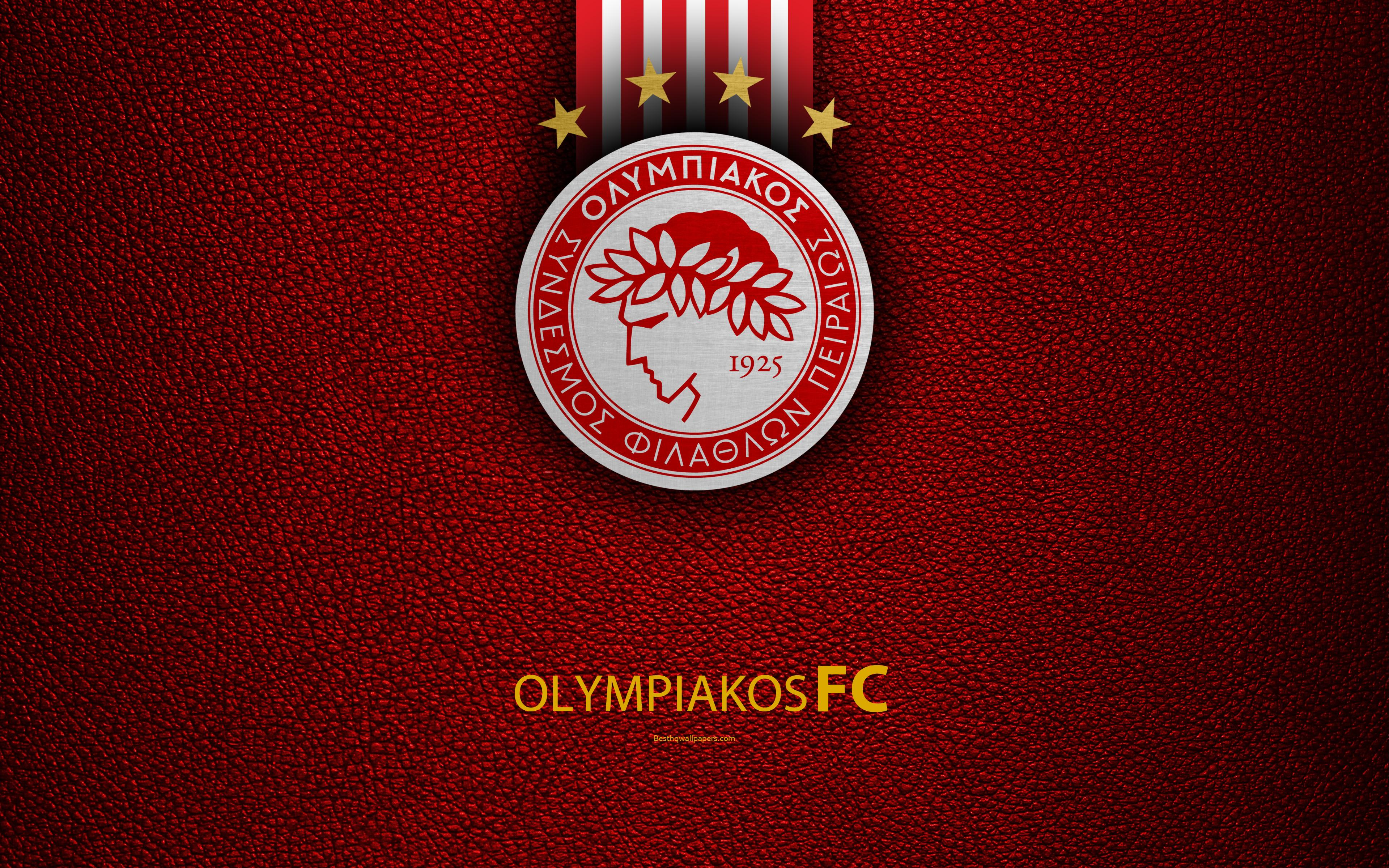 Download wallpapers Olympiakos FC, 4k, logo, Greek Super League ...