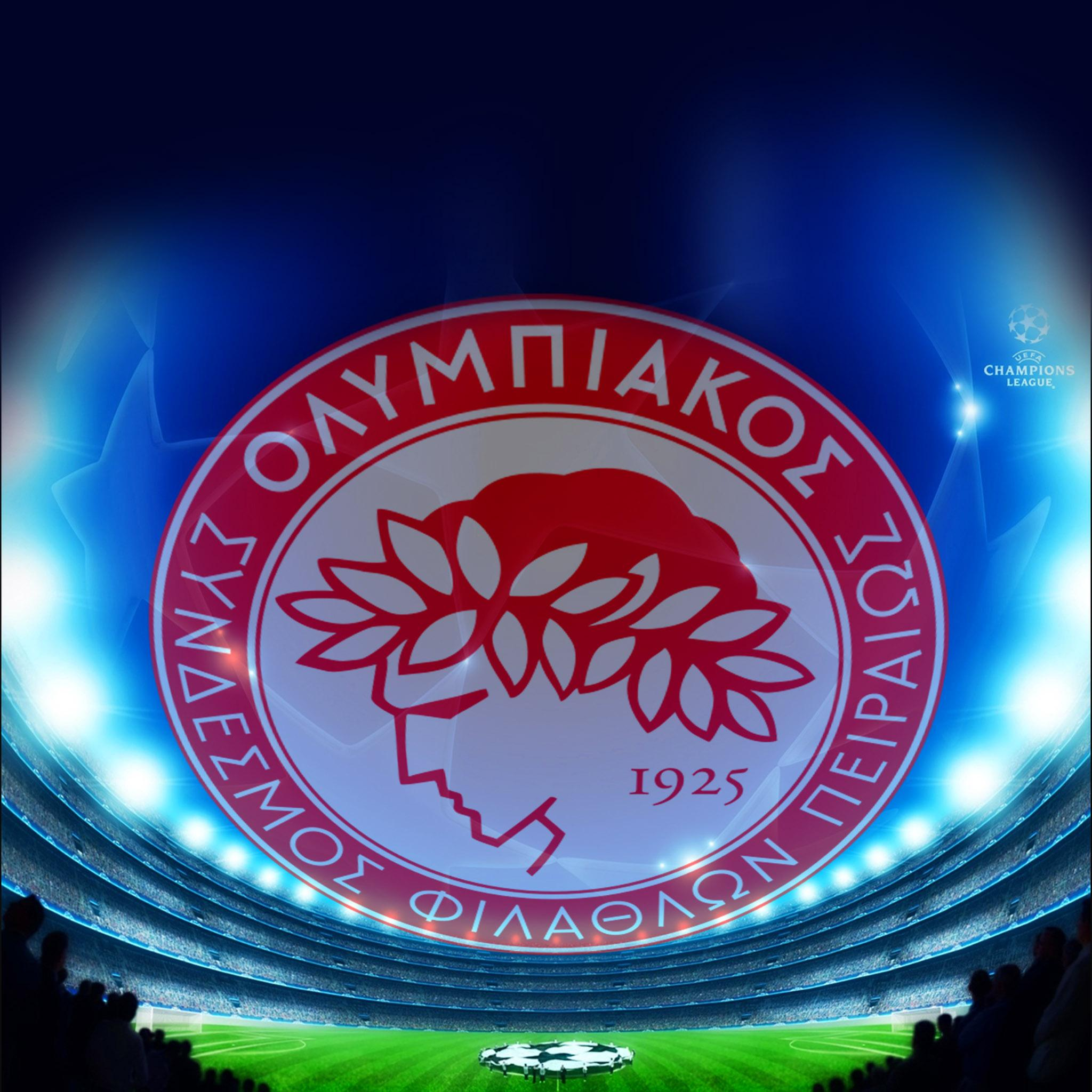 FREEIOS7 | olympiakos-fc-logo - parallax HD iPhone iPad wallpaper