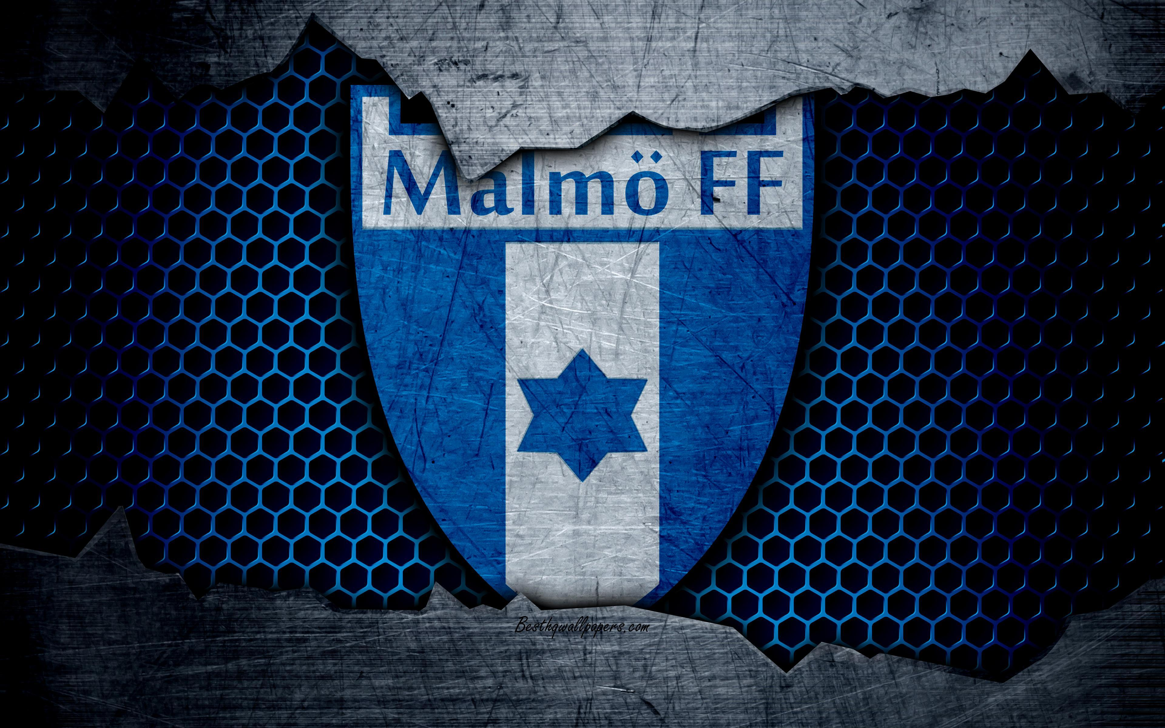 Download wallpapers Malmo, 4k, logo, Allsvenskan, soccer, football