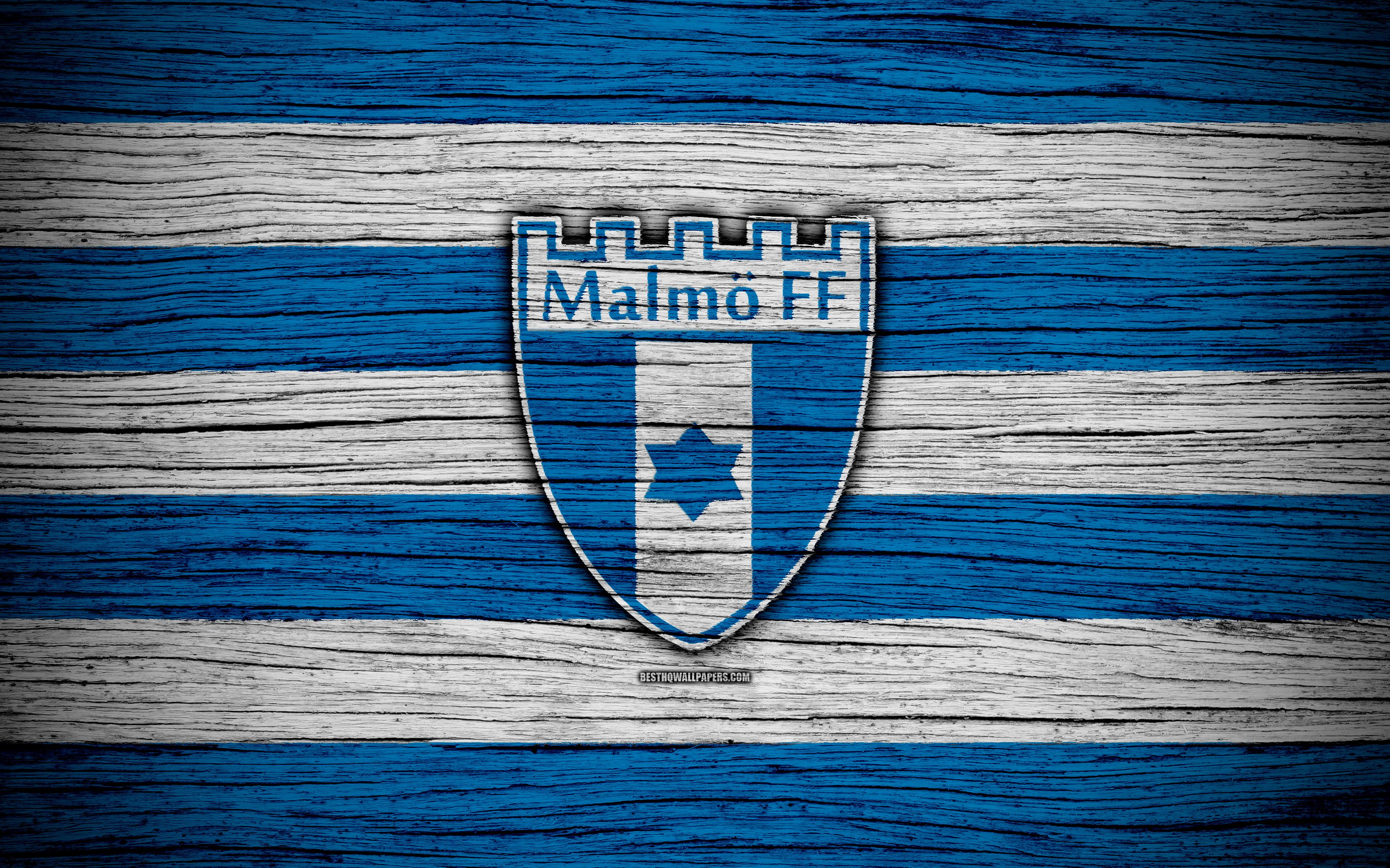 Download wallpapers Malmo FC, 4k, Allsvenskan, soccer, football club
