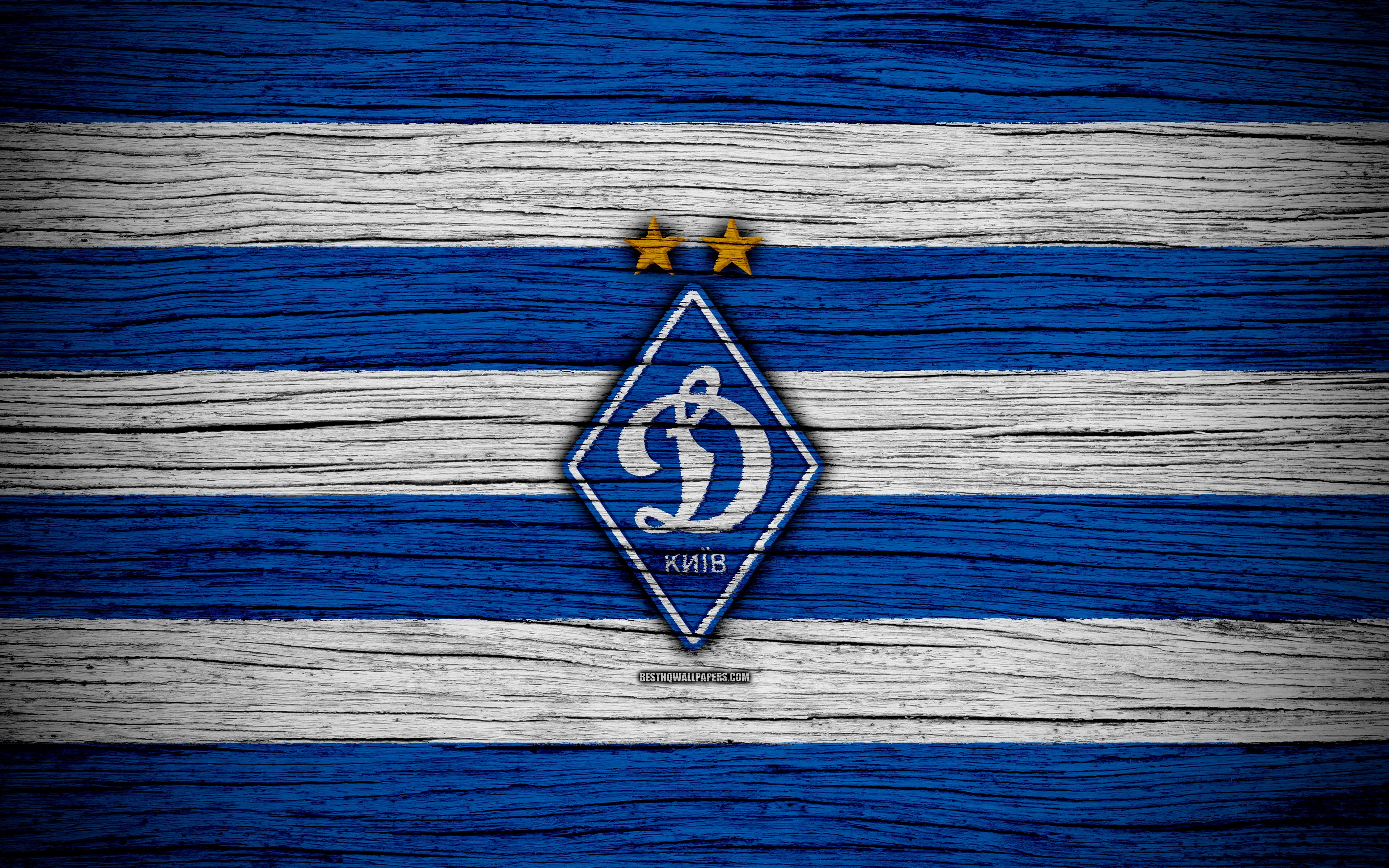 Download wallpapers Dynamo Kyiv FC, 4k, UPL, logo, soccer, FCDK