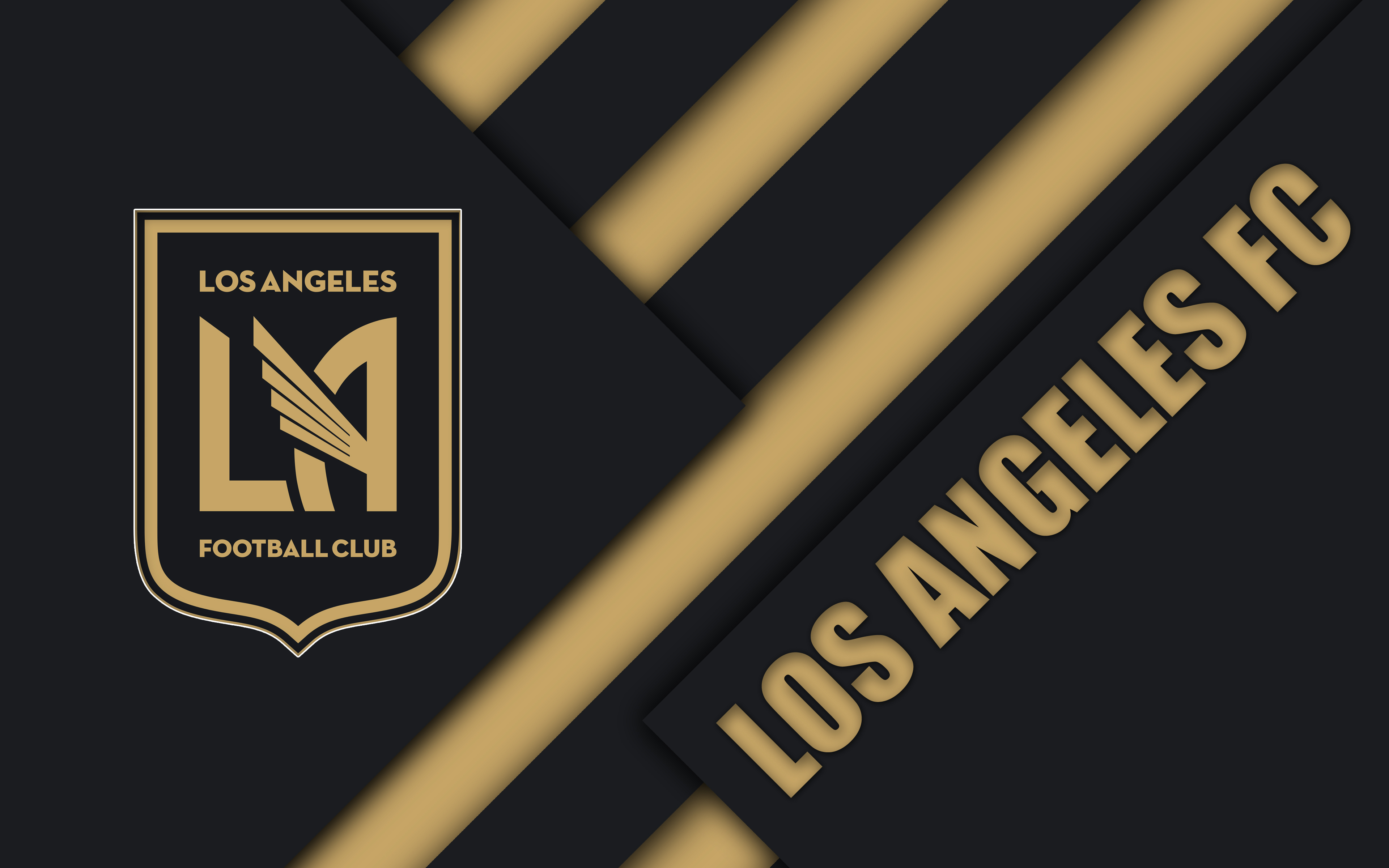 Soccer, Los Angeles FC, MLS, Logo wallpaper and background