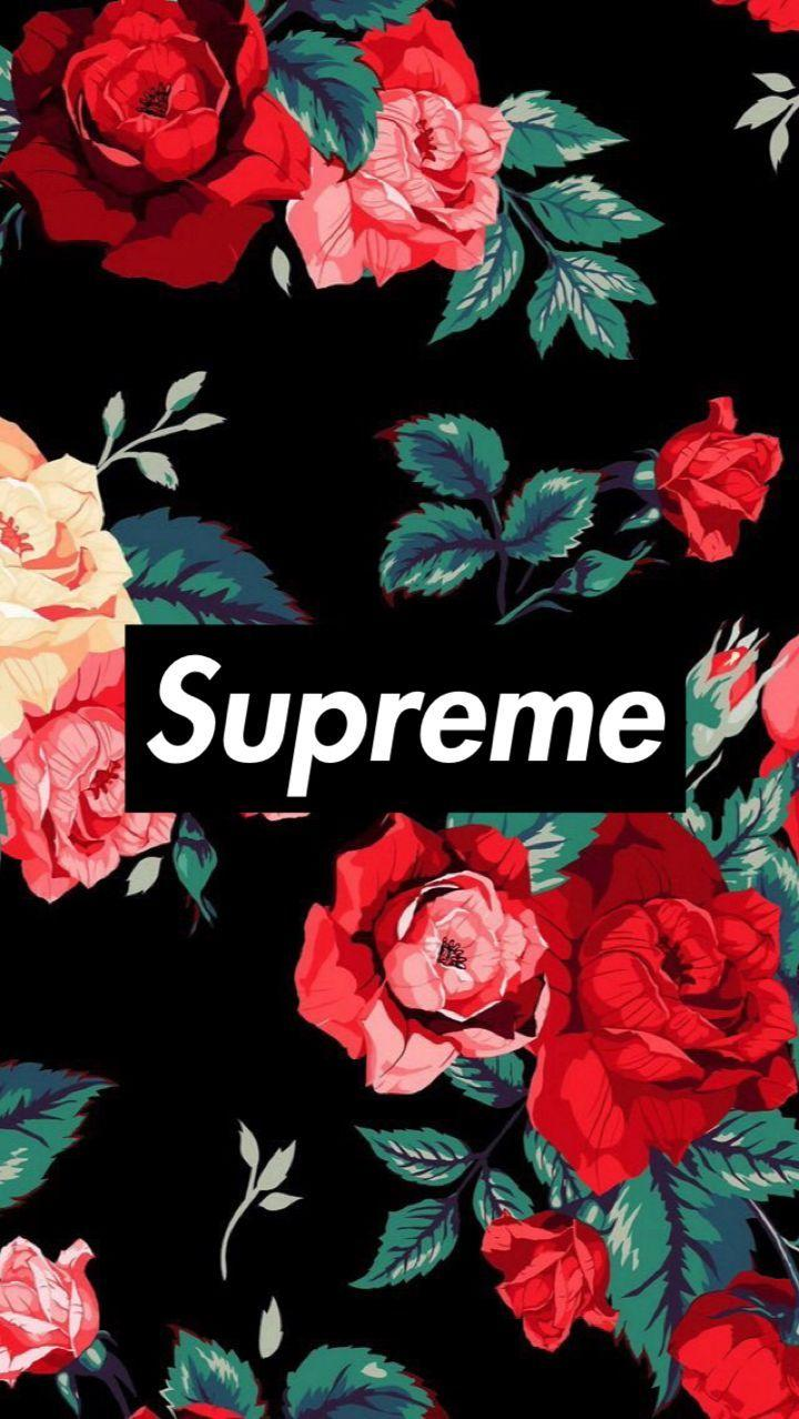 Supreme Floral iPhone Wallpapers