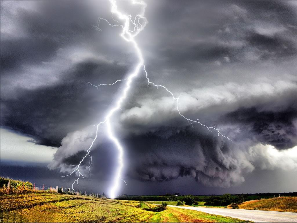 Tornado And Lightning HD Wallpaper, Backgrounds Image