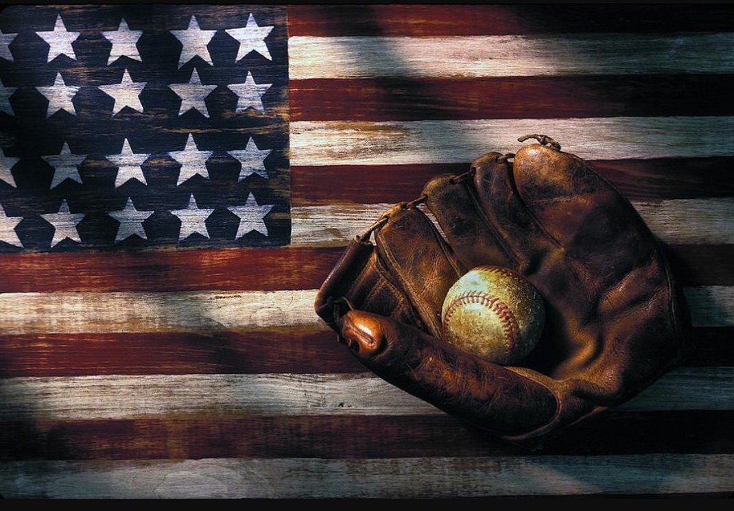 American Flag Baseball Wallpapers Wallpaper Cave