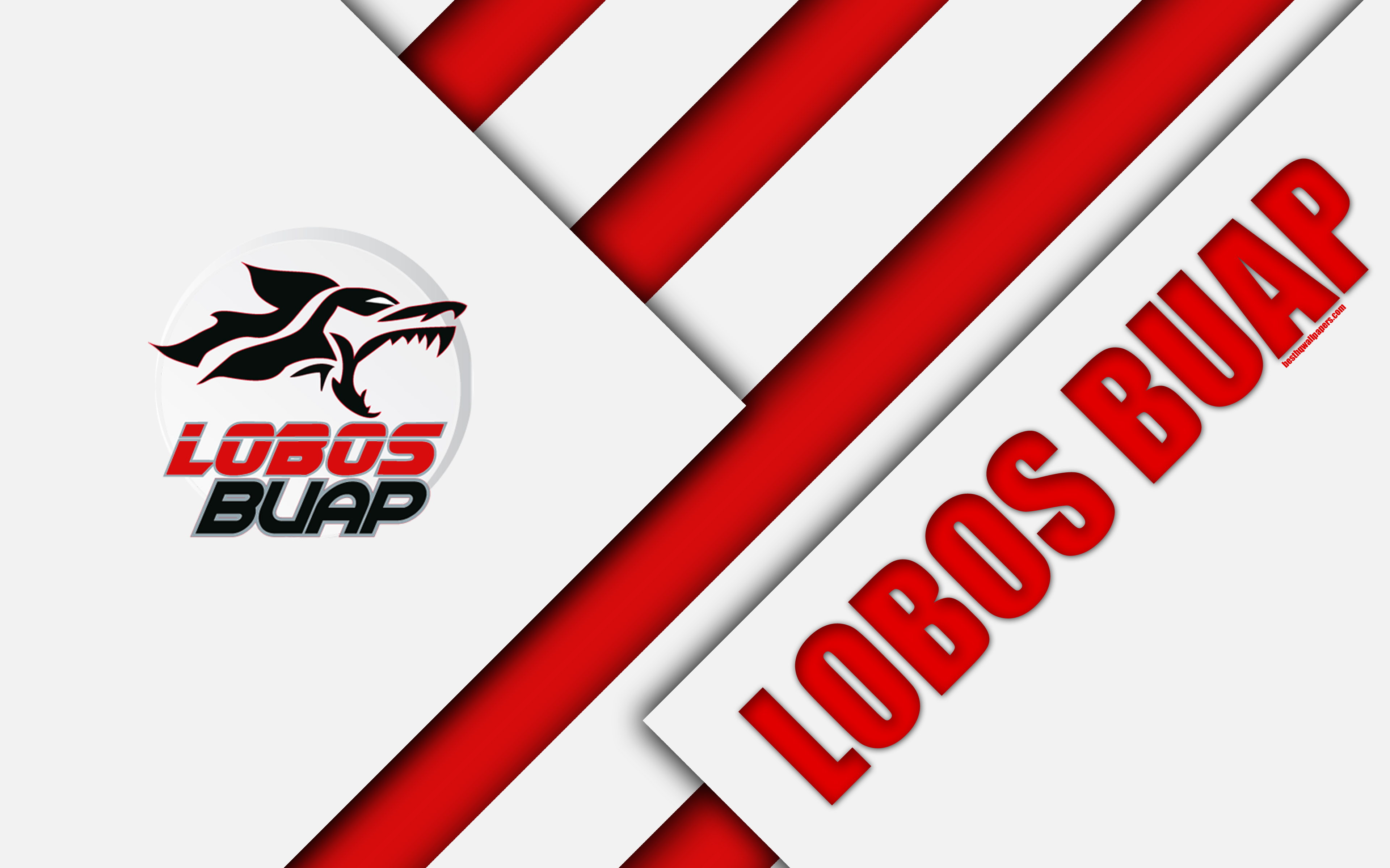 Download wallpapers Lobos BUAP, 4k, Mexican Football Club, material