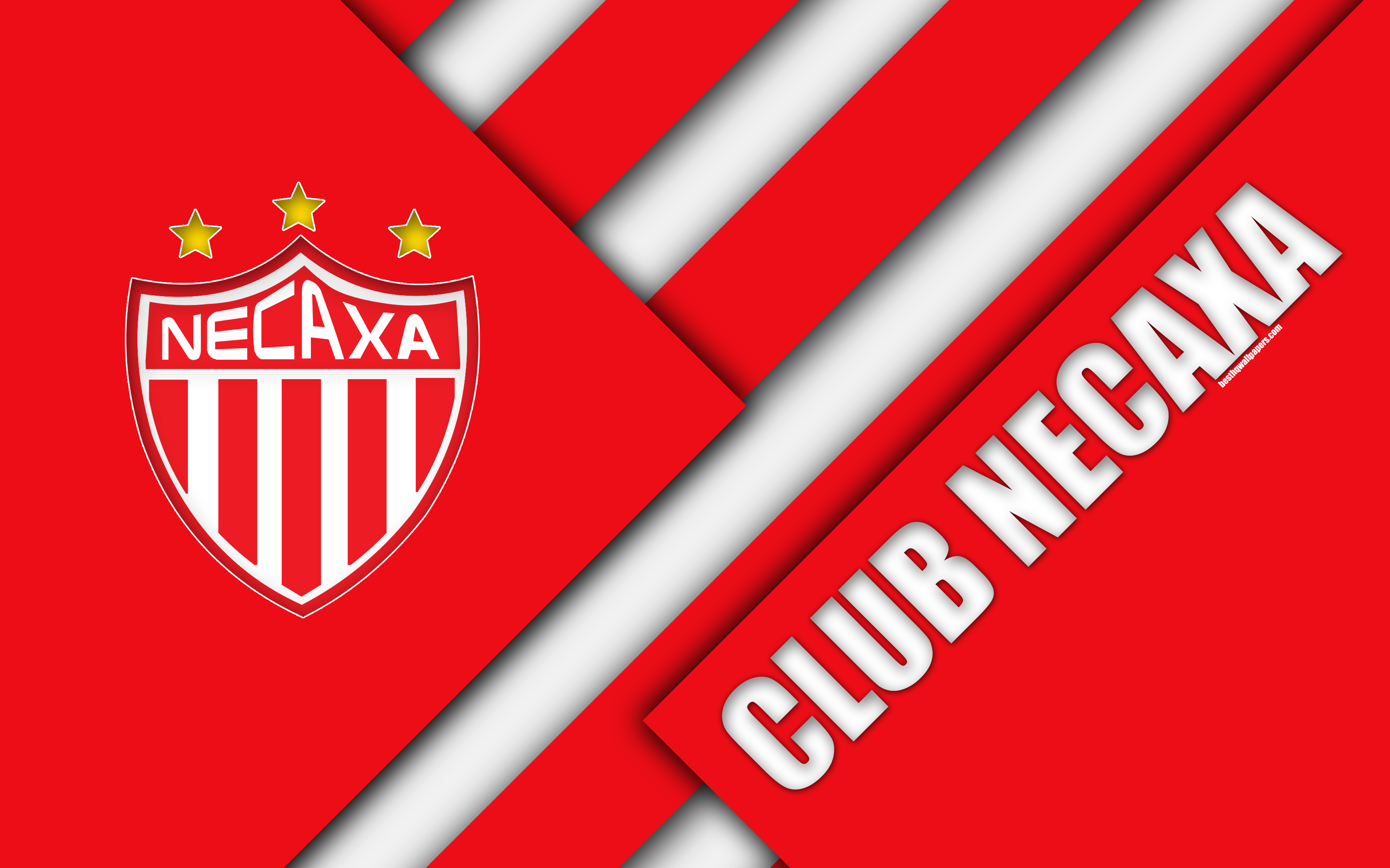 Download wallpapers Club Necaxa, 4K, Mexican Football Club, material