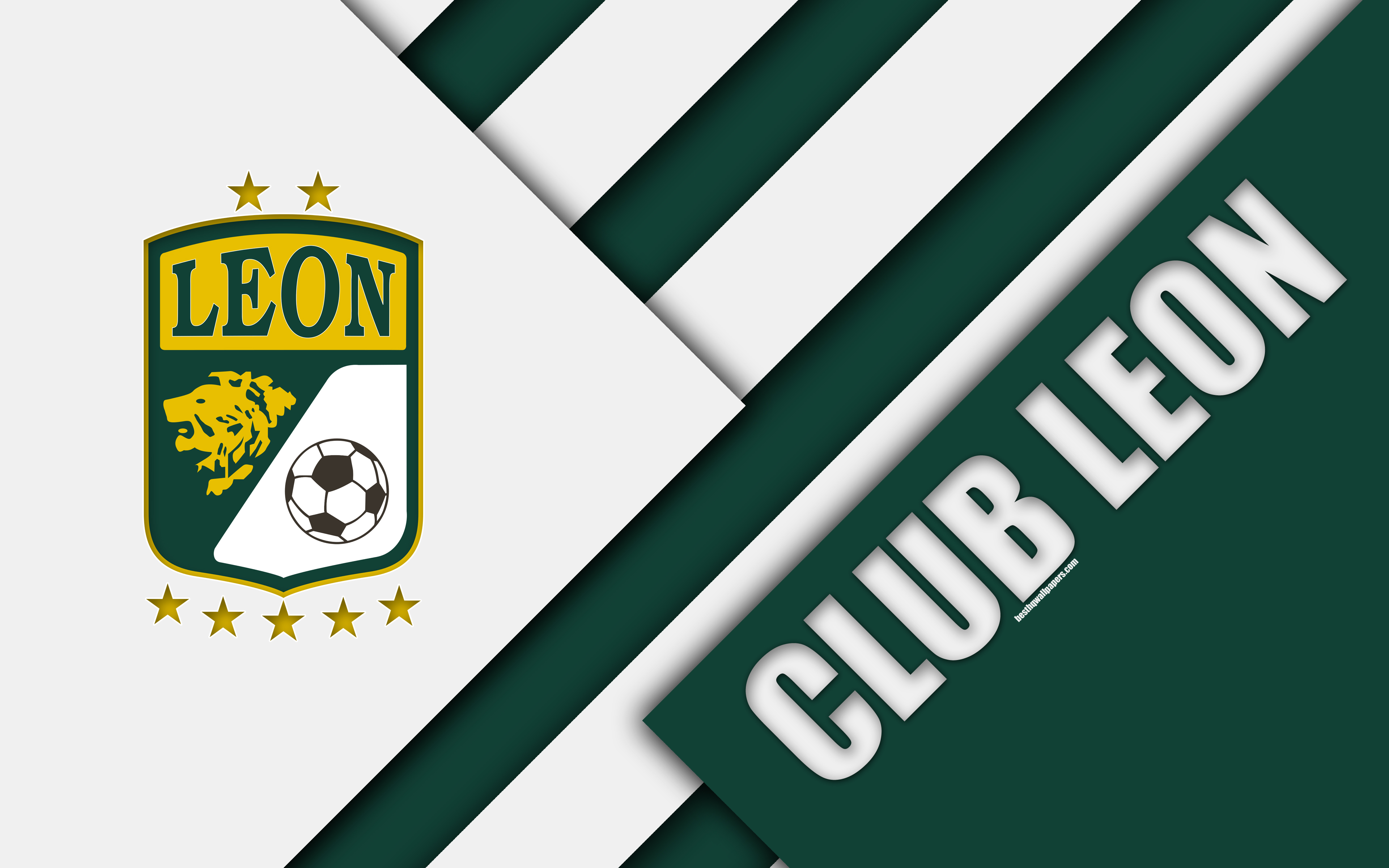 Download wallpapers Club Leon FC, 4k, Mexican Football Club ...