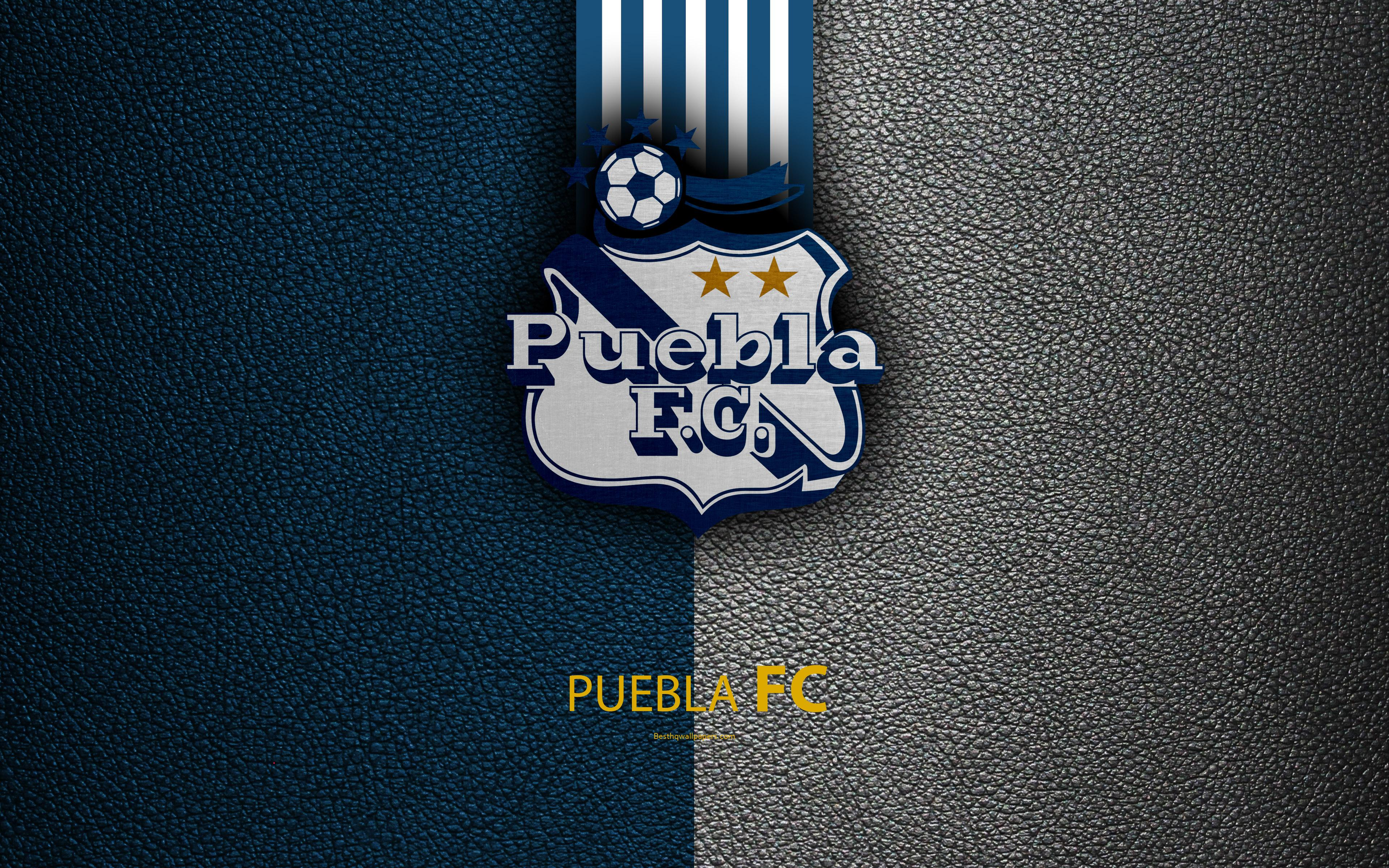 Download wallpapers Puebla FC, 4k, leather texture, logo, Mexican ...