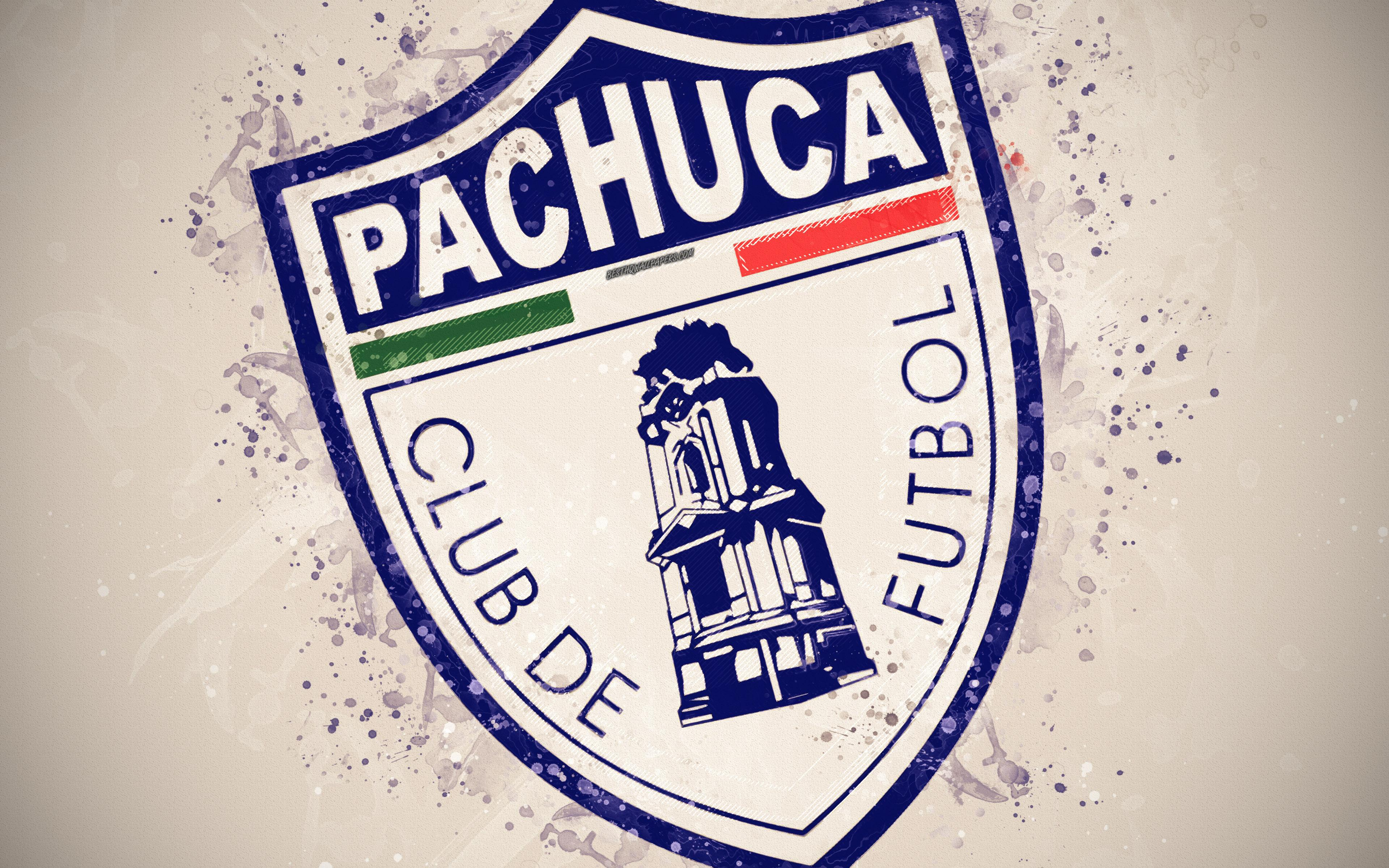 Download wallpapers CF Pachuca, 4k, paint art, creative, mexican