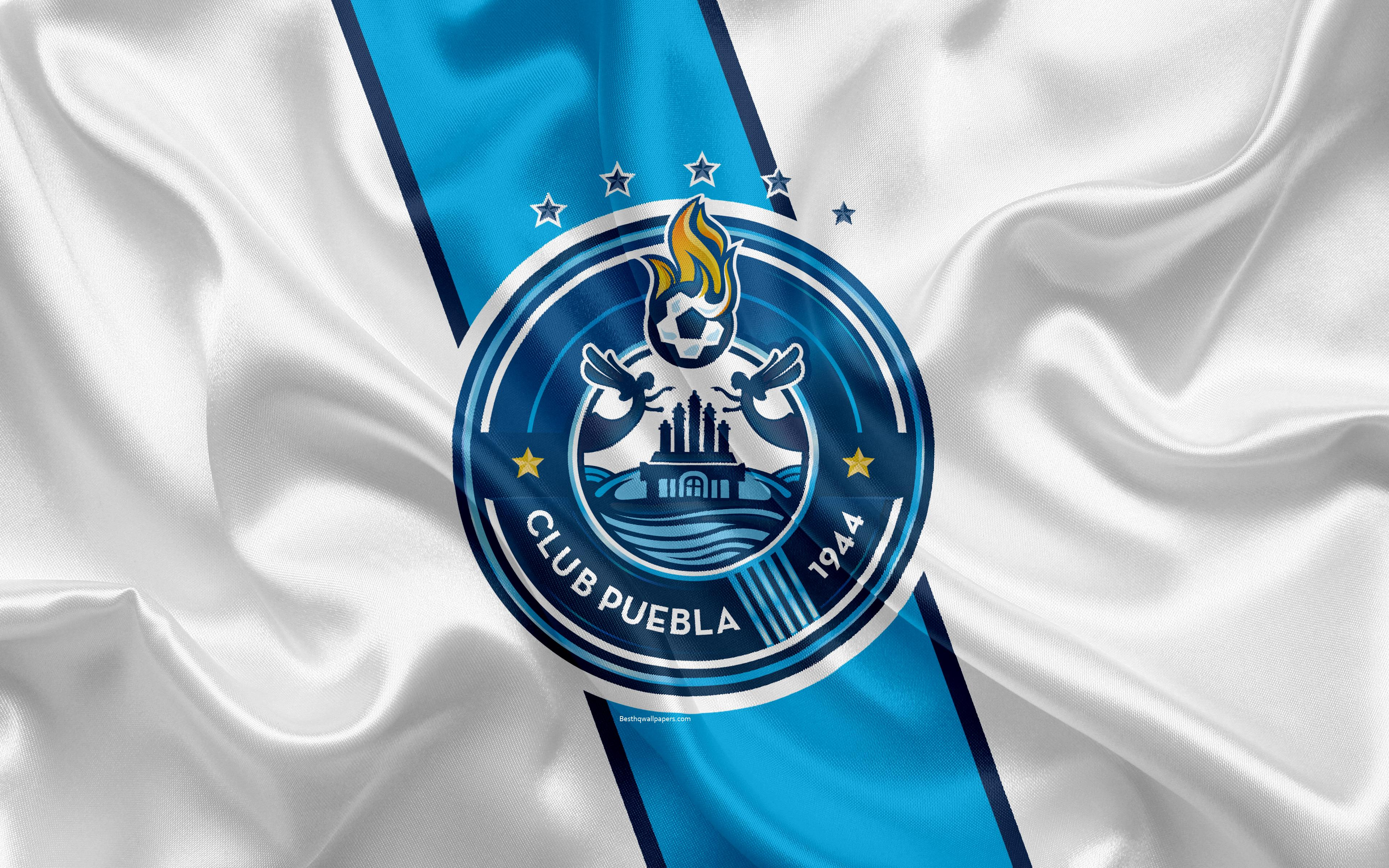 Download wallpapers Puebla FC, 4K, Mexican Football Club, emblem ...