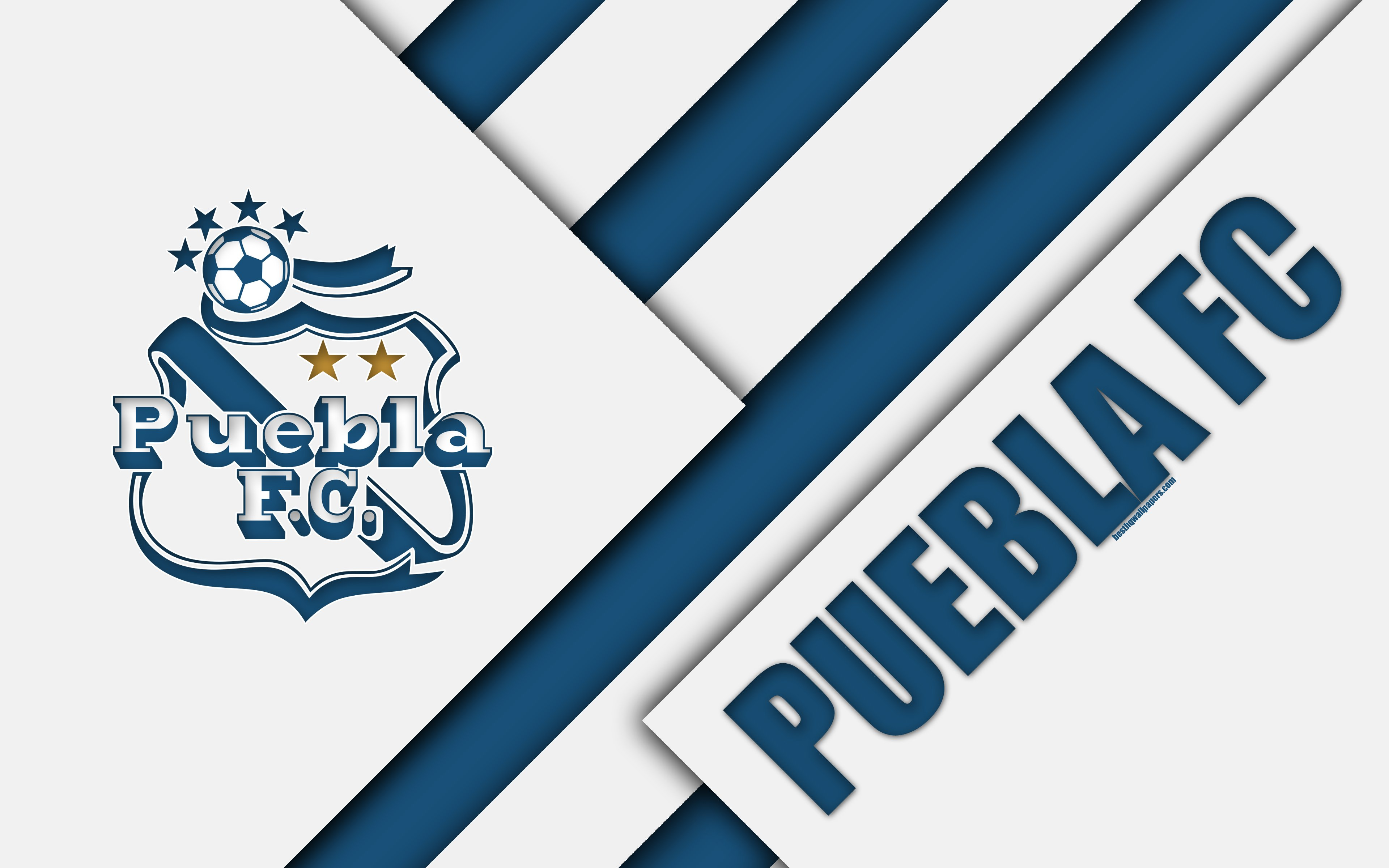 Download wallpapers Puebla FC, 4k, Mexican Football Club, material ...