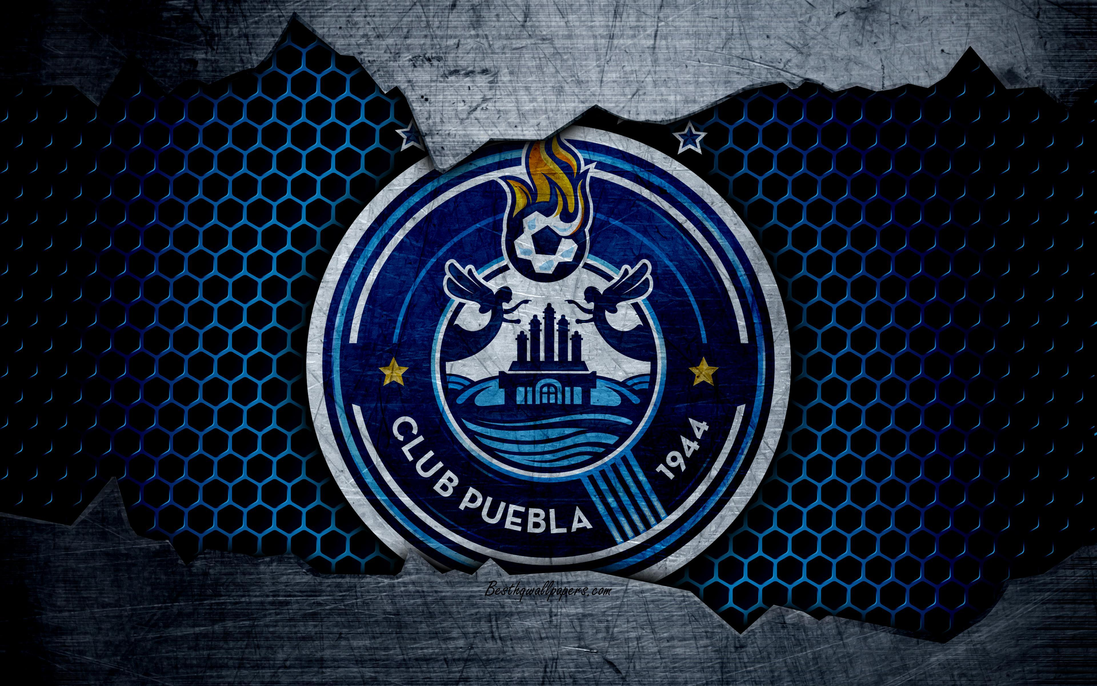 Download wallpapers Puebla, 4k, logo, Liga MX, soccer, Primera ...