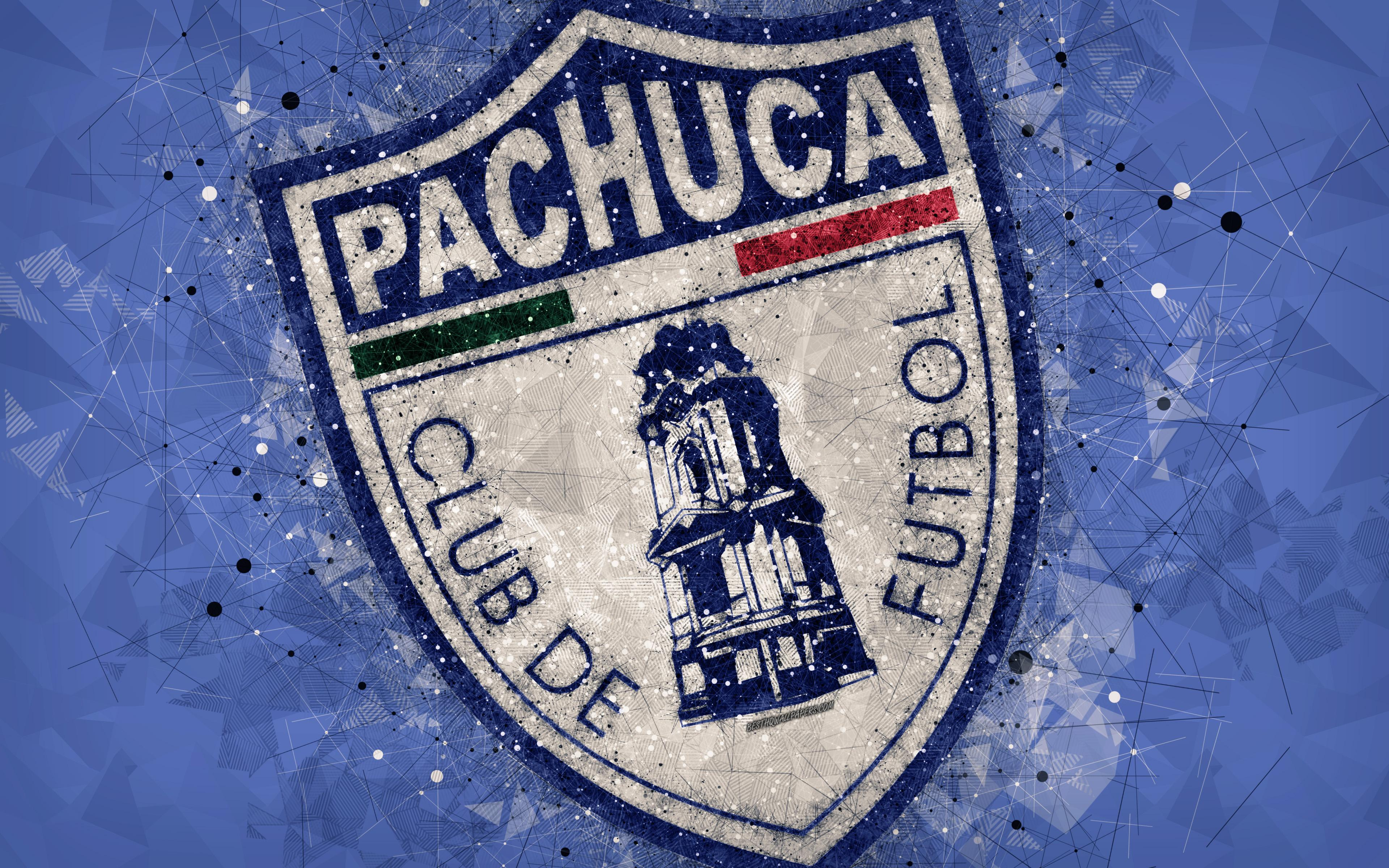 Download wallpapers CF Pachuca, 4k, geometric art, logo, Mexican