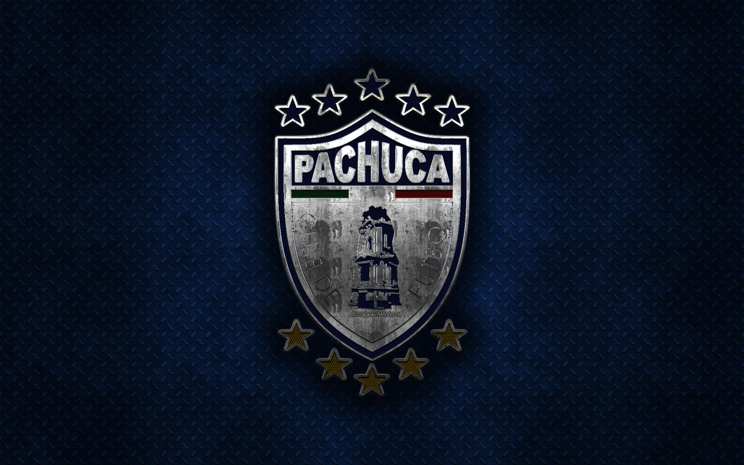 Download wallpapers CF Pachuca, Mexican football club, blue metal